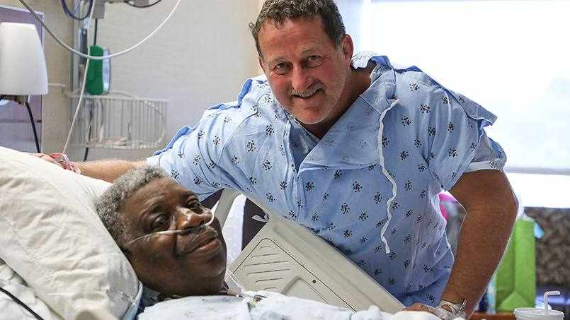 Sharing Mayo Clinic patients visiting in hospital room