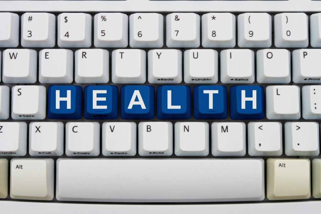 computer keyboard with word health