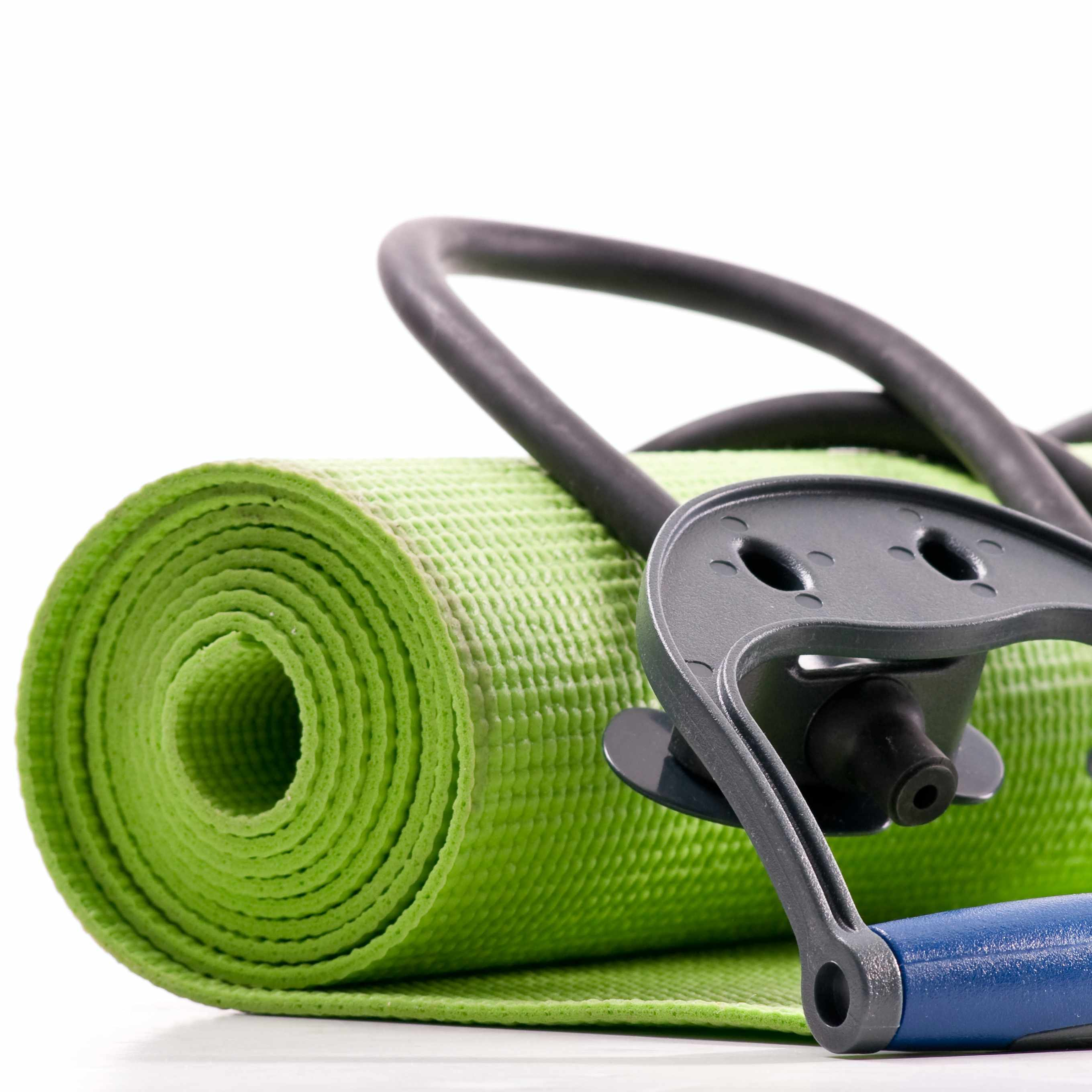 exercise yoga mat with stretch bands