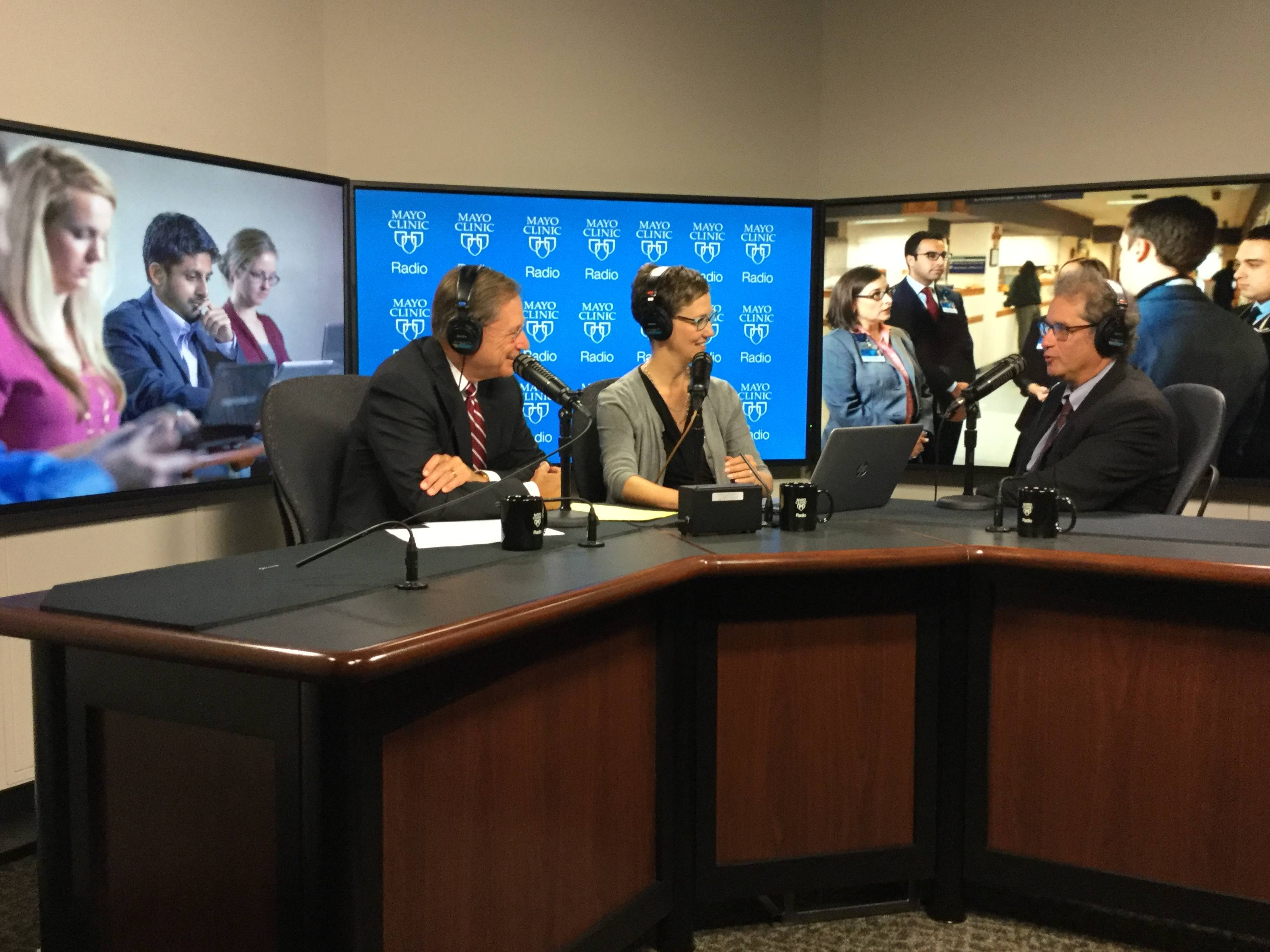 Dr. Fredric Meyer being interviewed on Mayo Clinic Radio