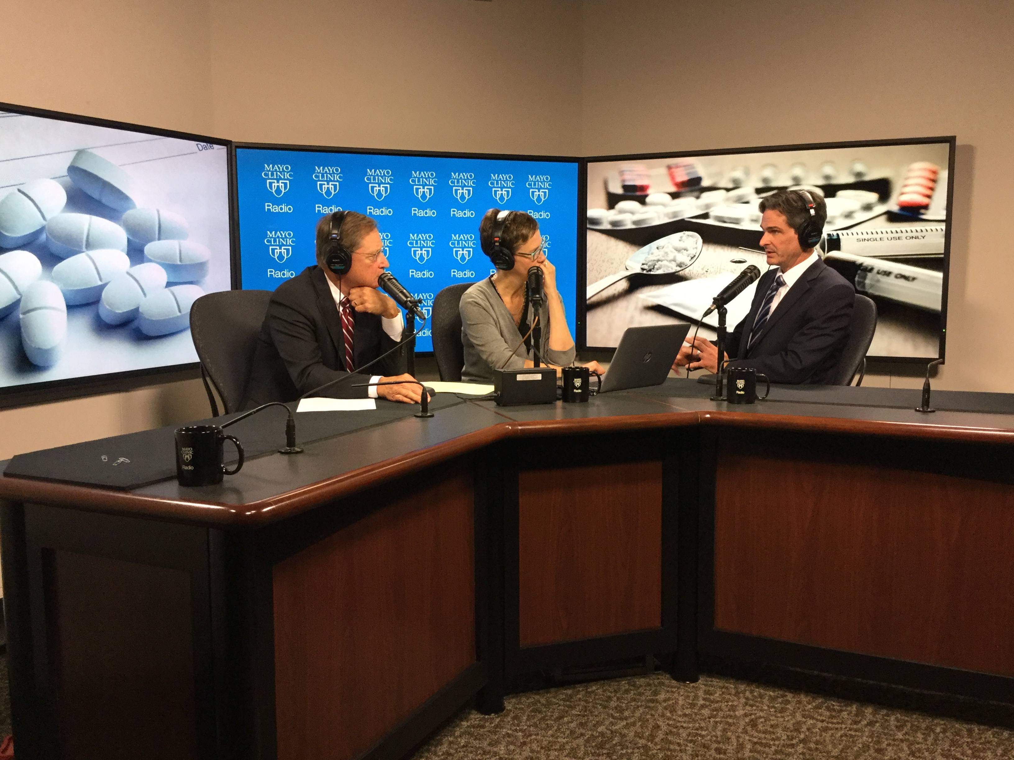 Dr. Michael Hooten being interviewed on Mayo Clinic Radio