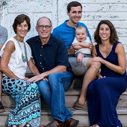 cardiology nurse and heart attack survivor Kristin O'Meara with her family