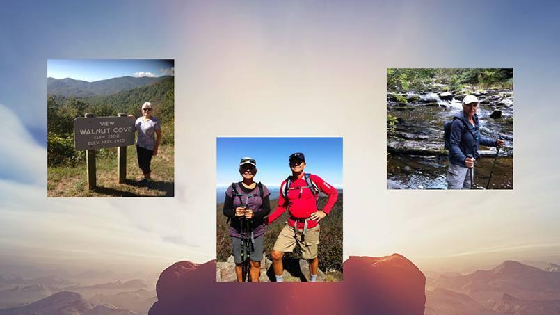 "Herminia ""Mini"" Kincaid hiking and walking in the outdoors"