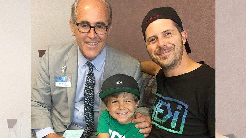 Dr. Preito with transplant patient