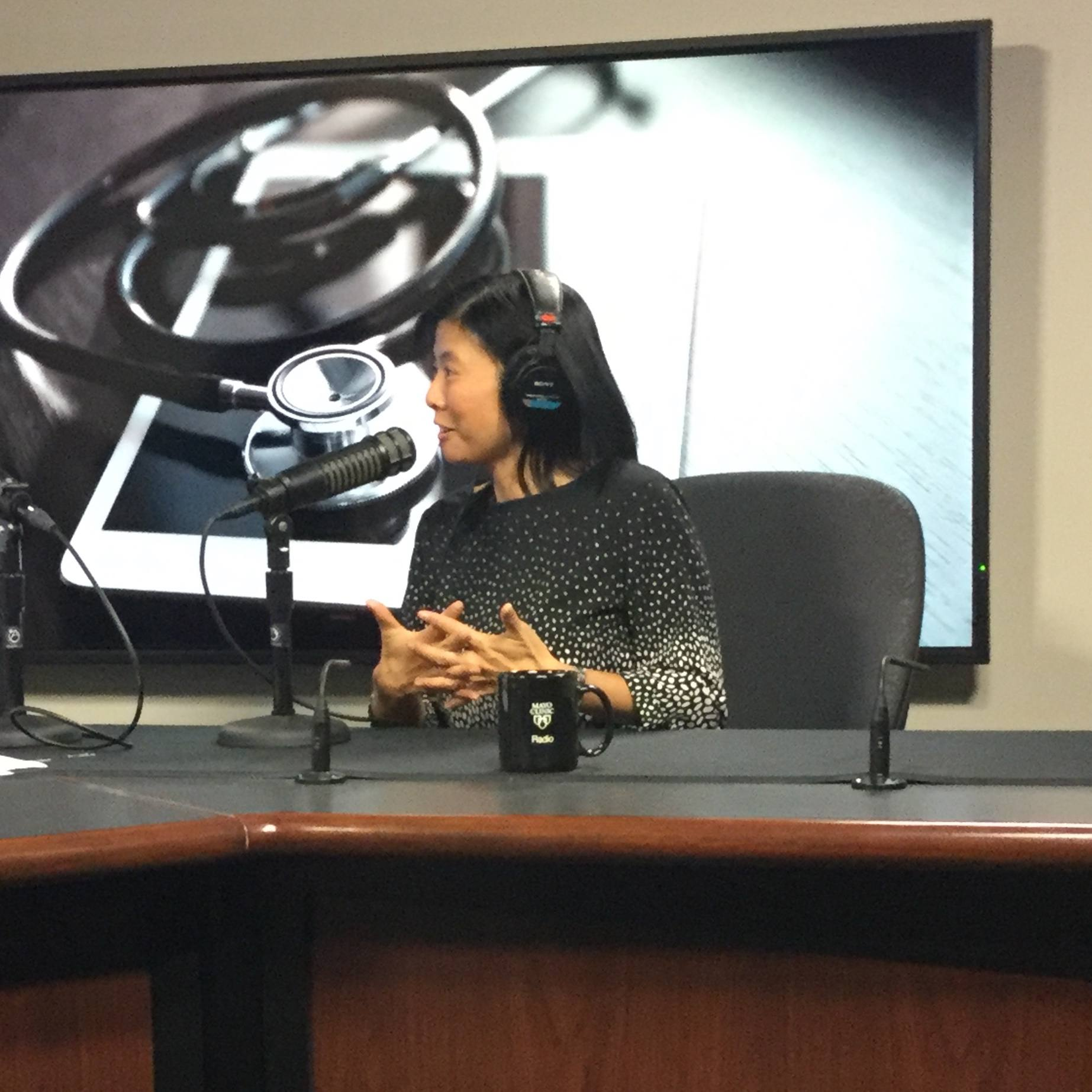 Dr. Minetta Liu being interviewed on Mayo Clinic Radio