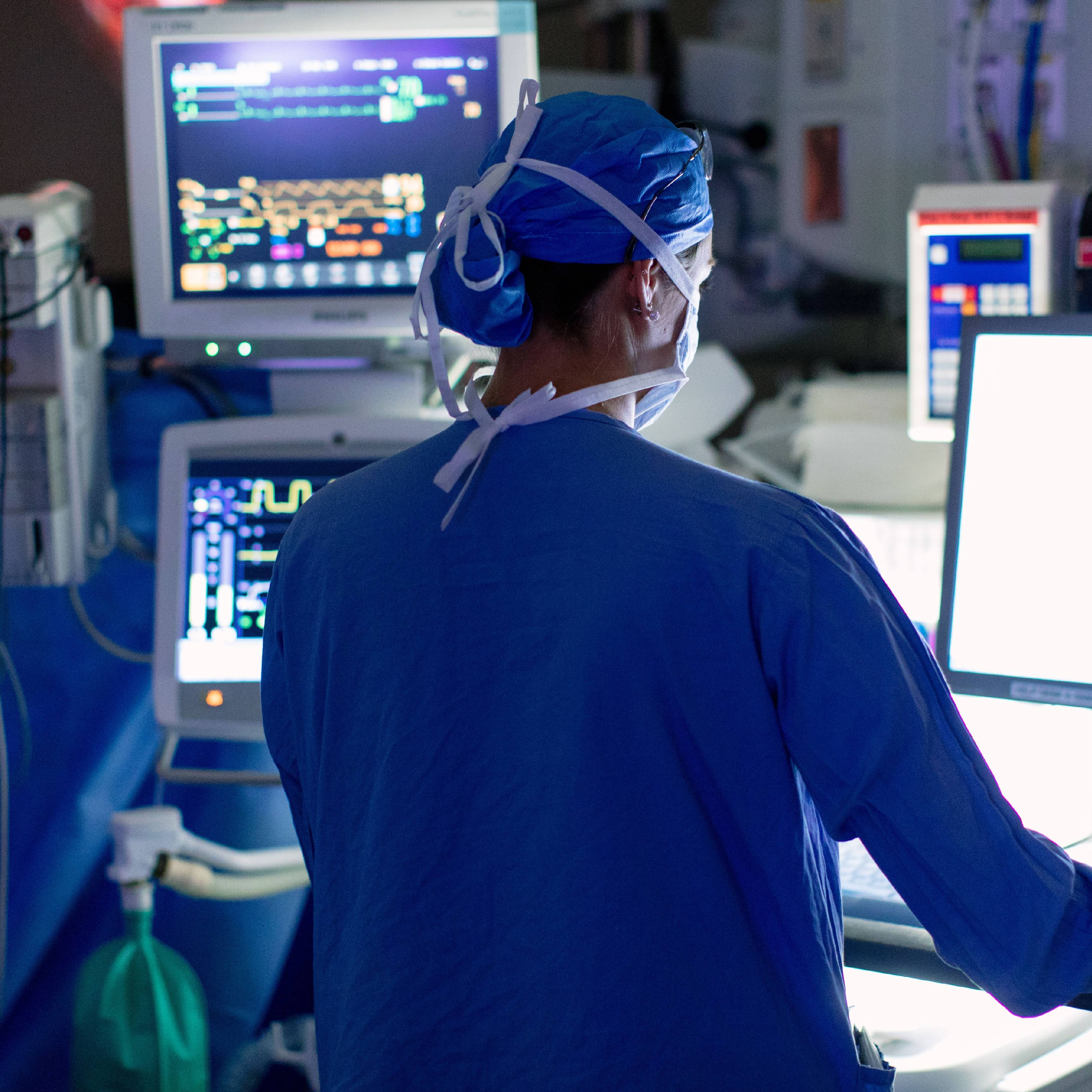 prostate cancer surgery in the operating room