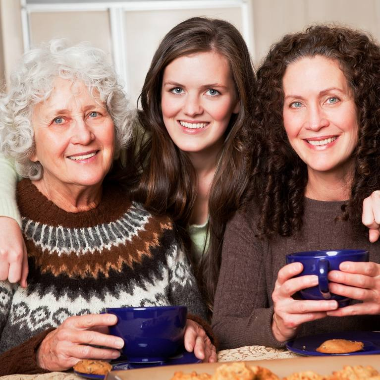 three women who look related representing three generations