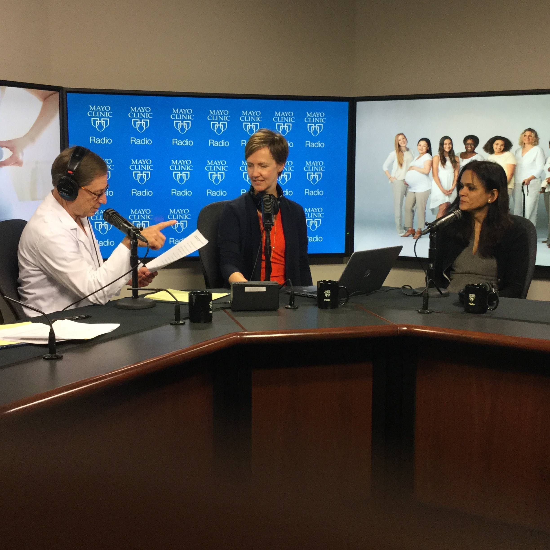 Dr. Ekta Kapoor being interviewed on Mayo Clinic Radio