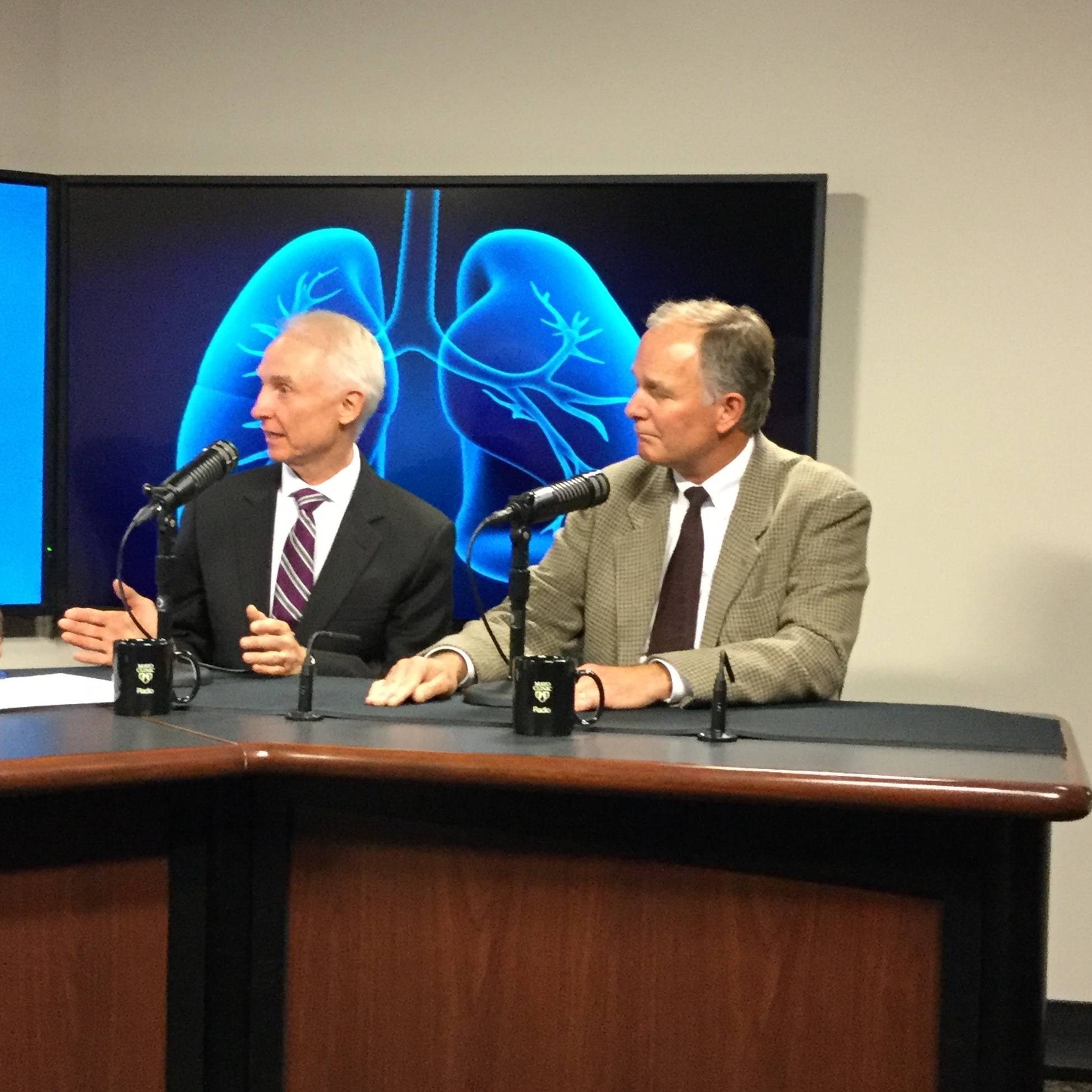 Dr. David Midthun and Dr. J. Taylor Hays being interviewed on Mayo Clinic Radio