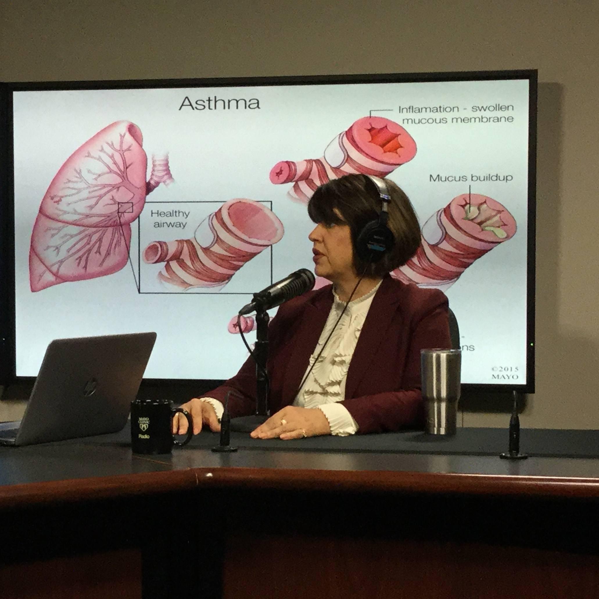Dr. Martha Hartz being interviewed on Mayo Clinic Radio