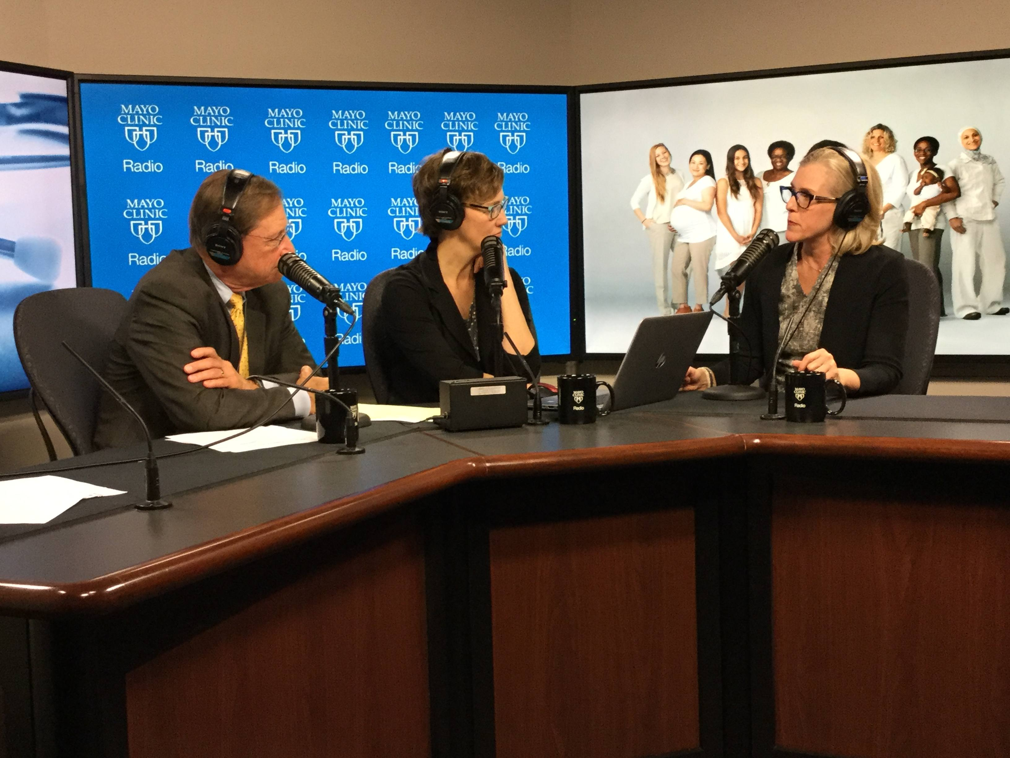 Dr. Stephanie Faubion being interviewed on Mayo Clinic Radio