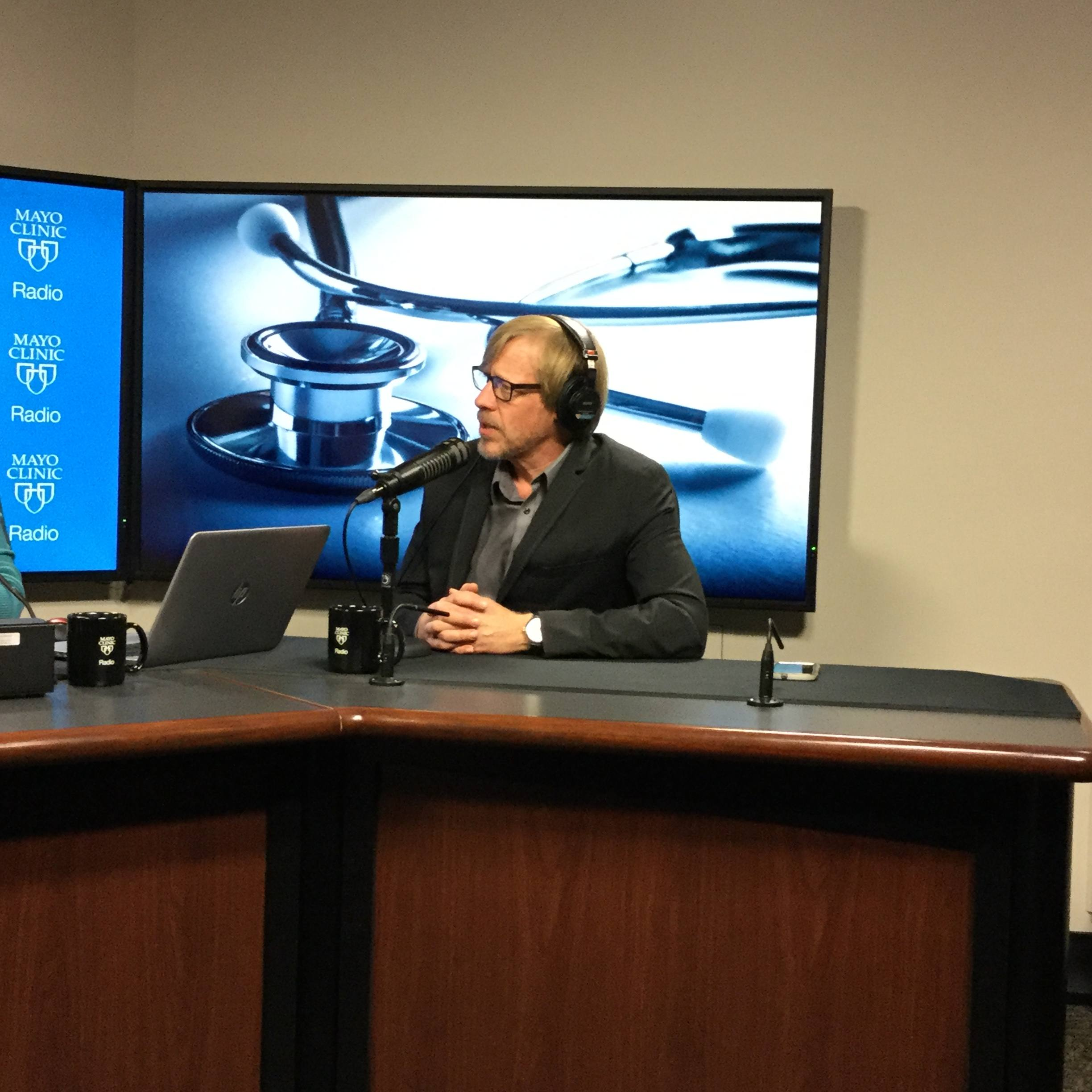 Dr. Keith Knutson being interviewed on Mayo Clinic Radio