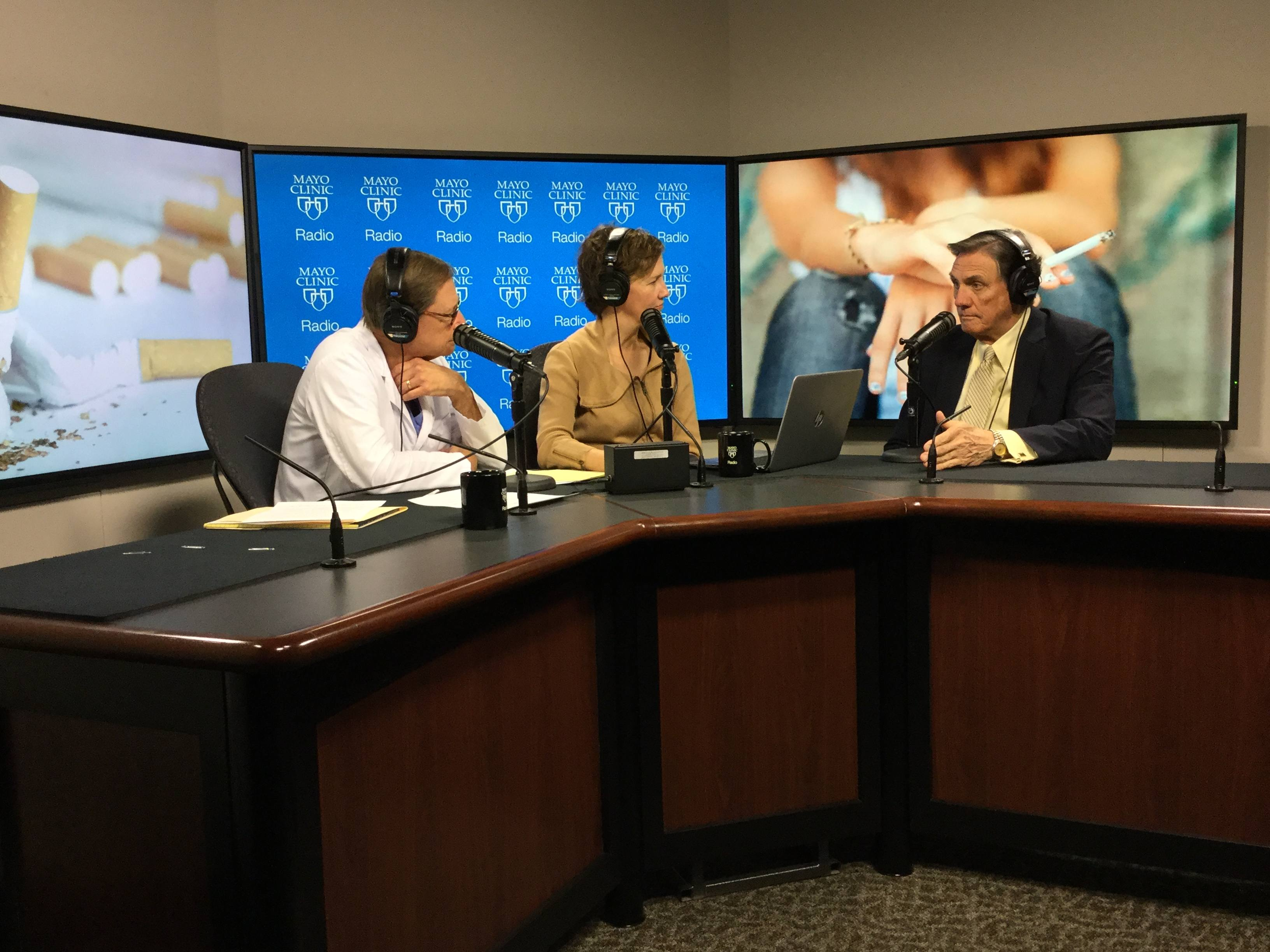 Dr. Richard Hurt being intervewed on Mayo Clinic Radio