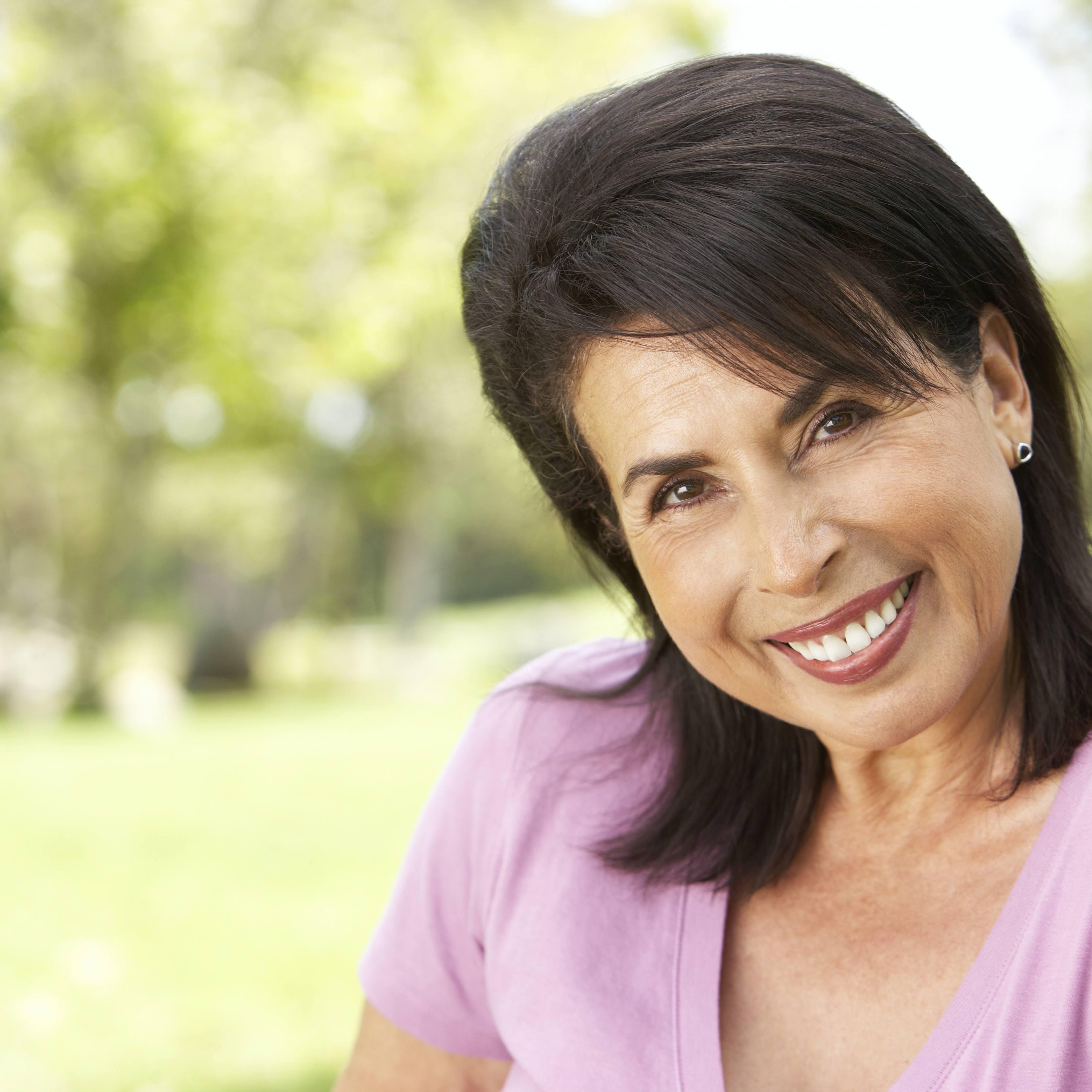 Portrait of a senior woman in a park