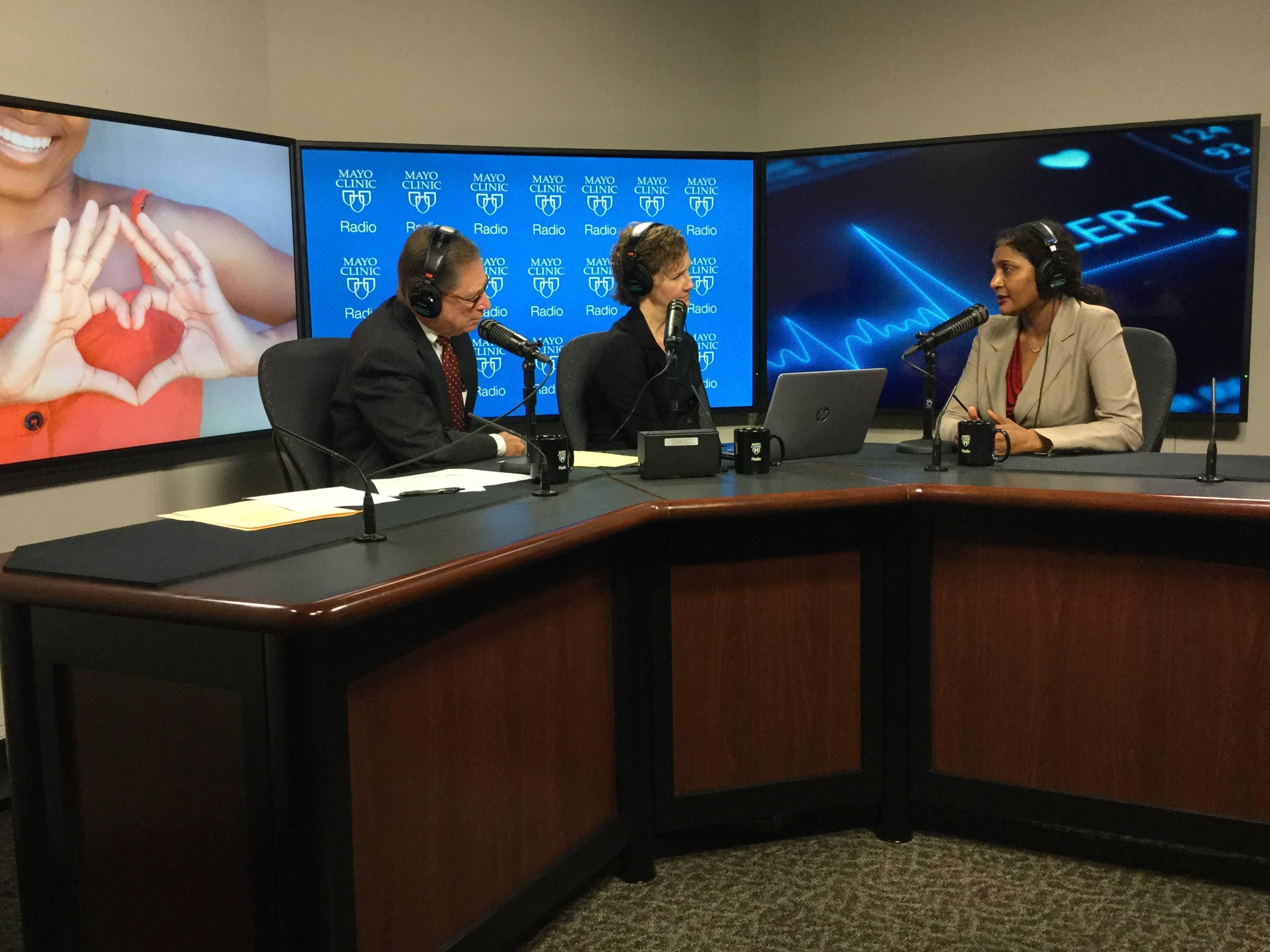 Dr. Rekha Mankad being interviewed on Mayo Clinic Radio