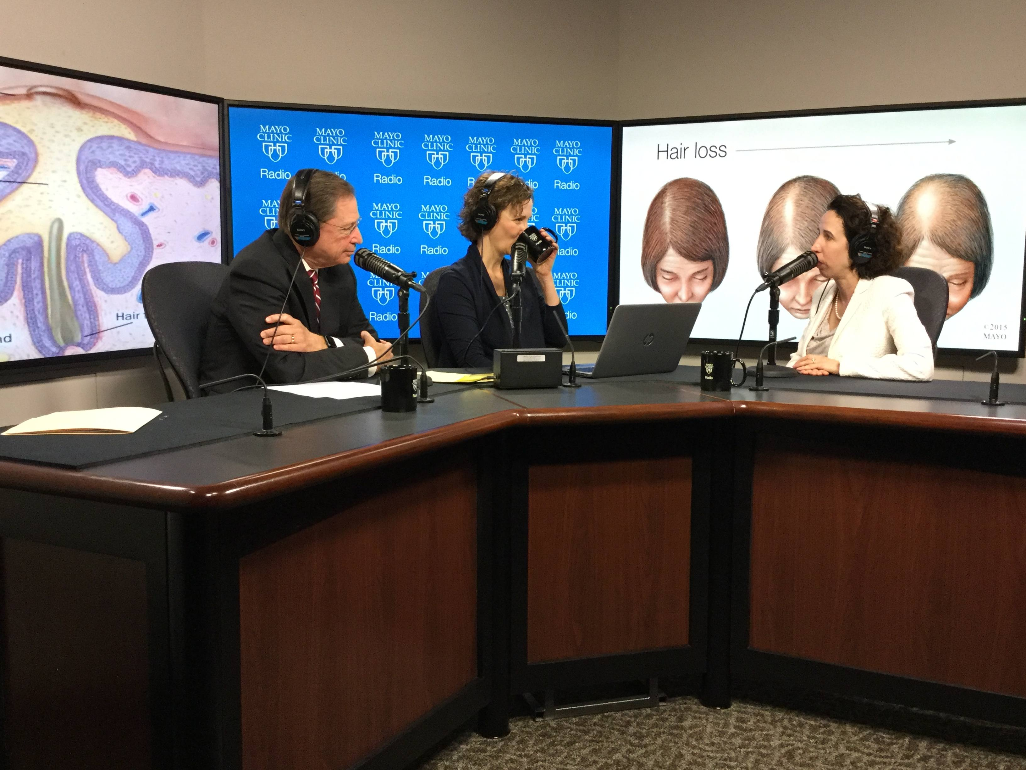 Dr. Dawn Davis being interviewed on Mayo Clinic Radio