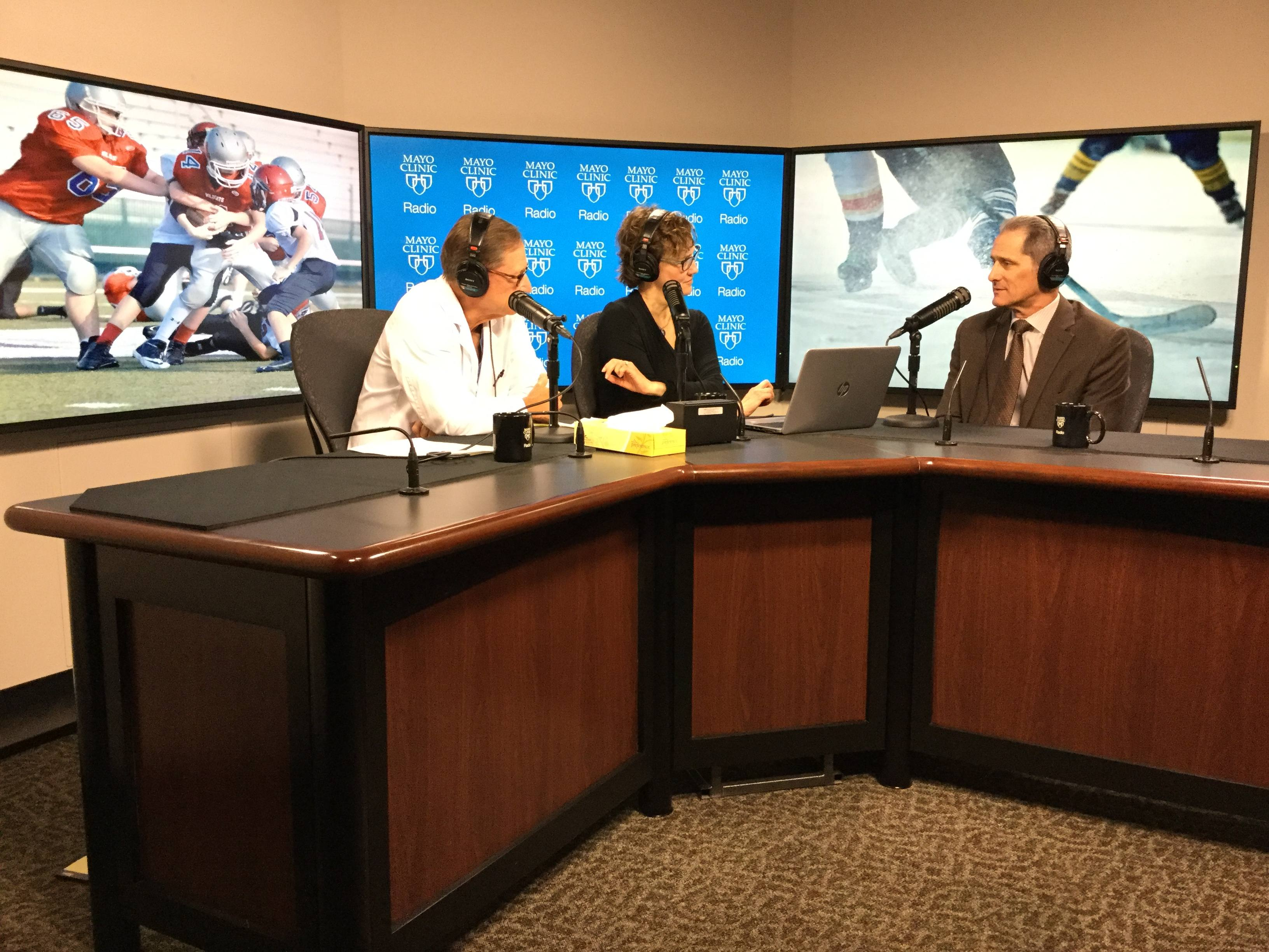 Dr. Michael Stuart being interviewed on Mayo Clinic Radio