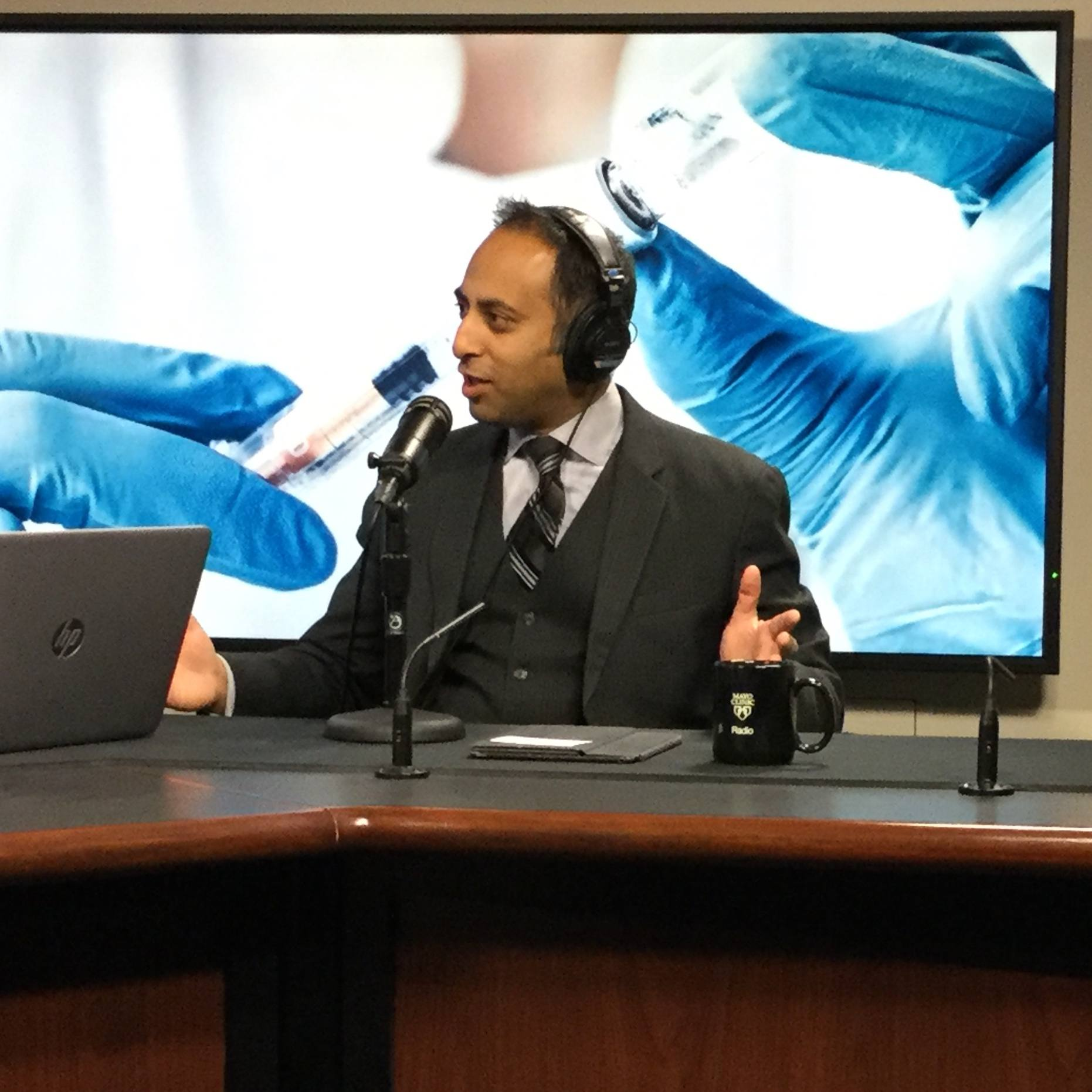 Dr. Pritish Tosh being interviewed on Mayo Clinic Radio