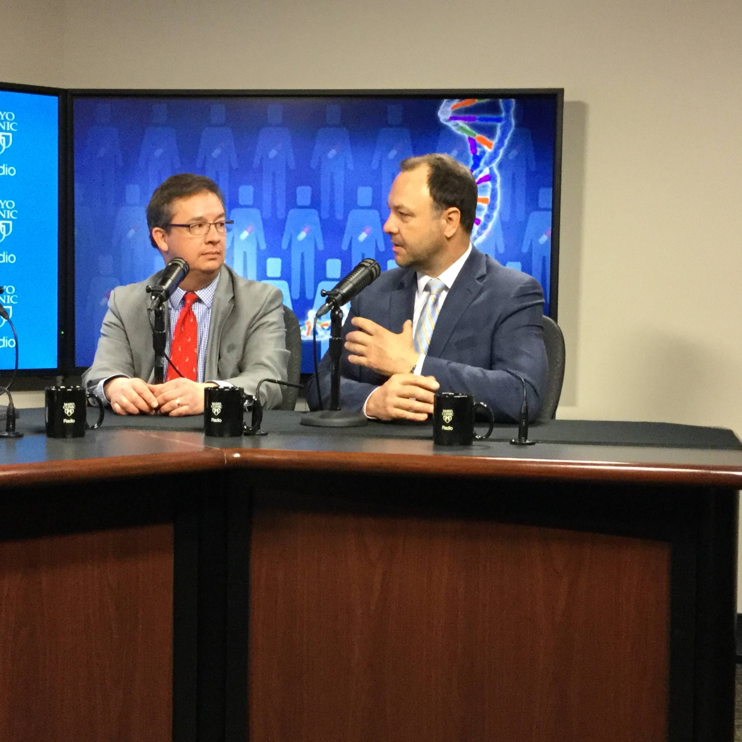 Dr. Timothy Curry and Dr. Michael Stephens being interviewed on Mayo Clinic Radio