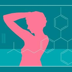 illustration from Forefront Magazine of a woman checking under her arm for breast cancer lumps
