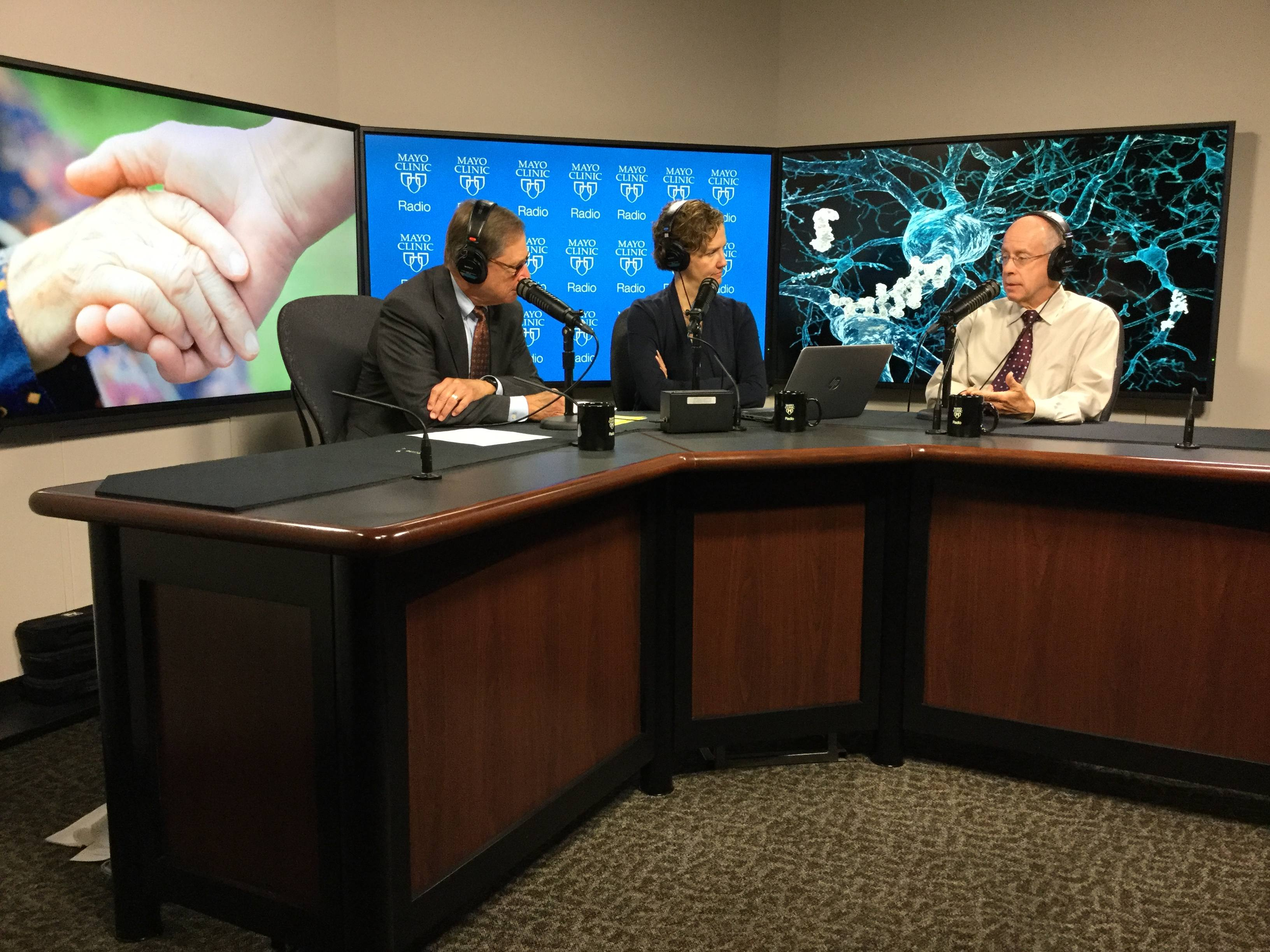 Dr. Clifford Jack being interviewed on Mayo Clinic Radio
