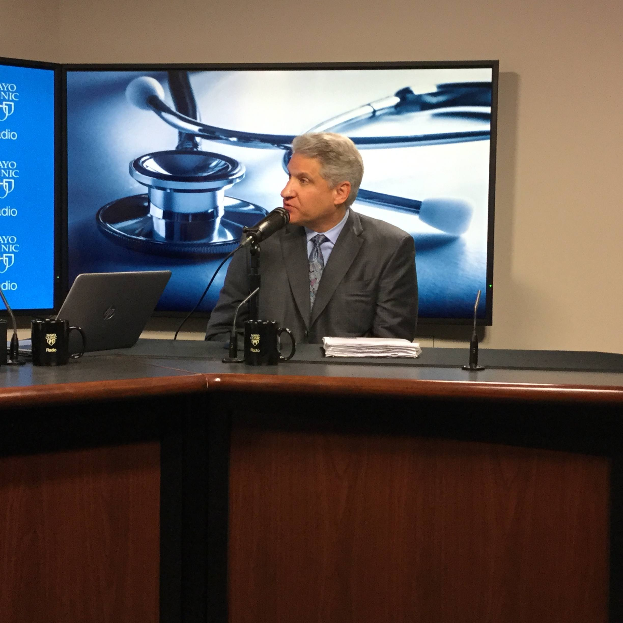 Dr. Robert Brown, Jr. being interviewed on Mayo Clinic Radio