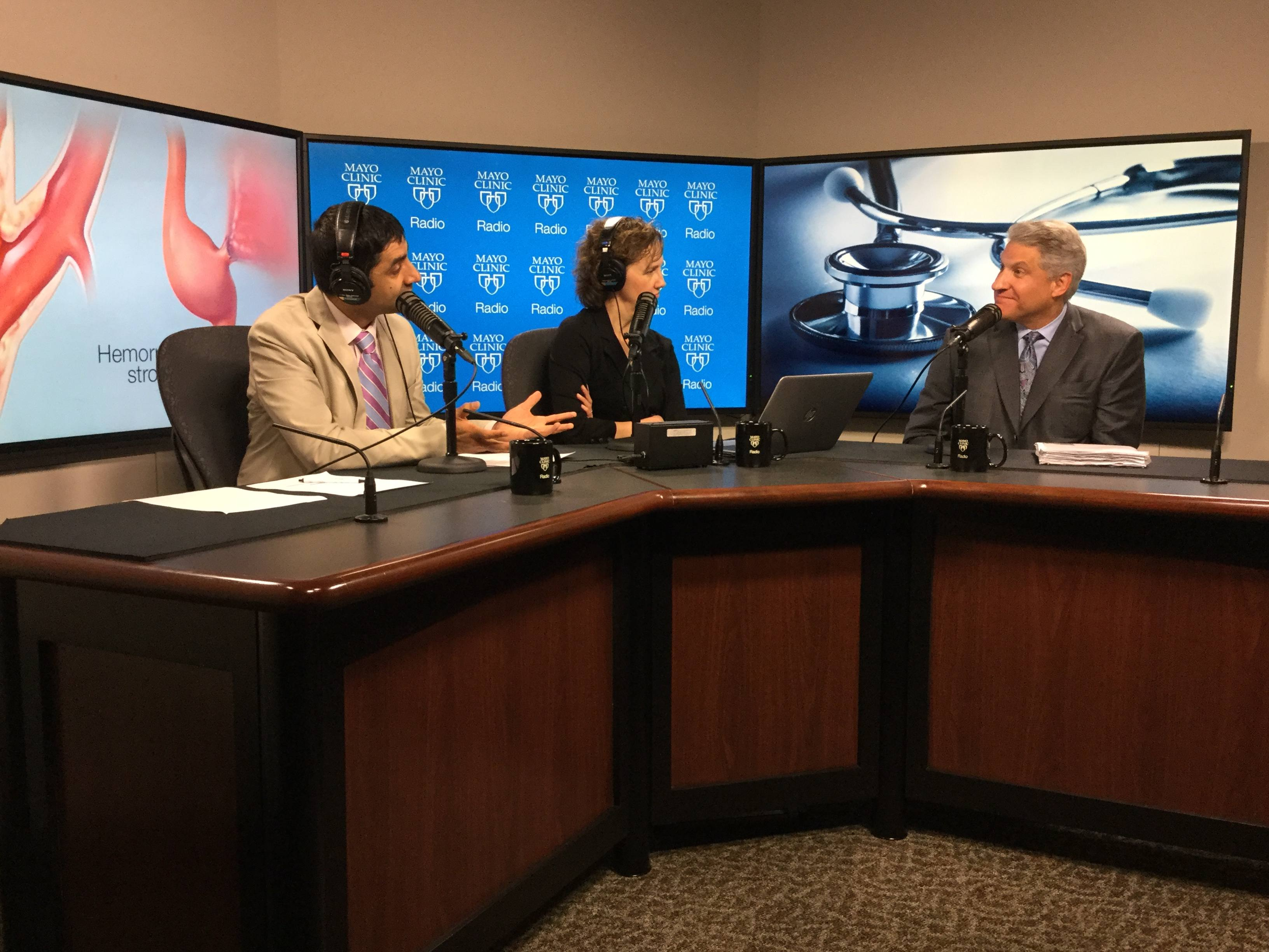 Dr. Robert Brown, Jr., being interviewed on Mayo Clinic Radio