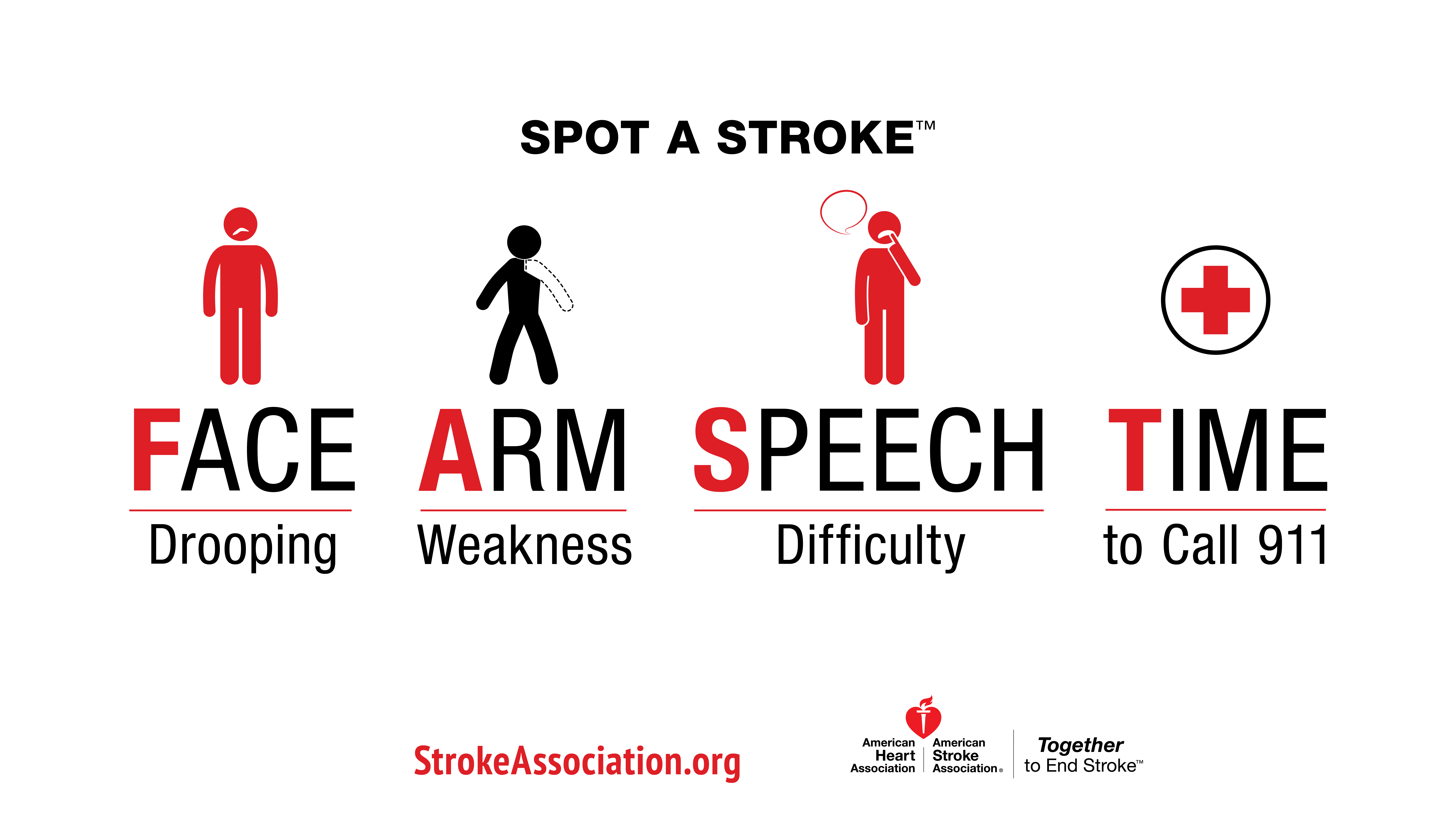 FAST infographic for spotting a stroke