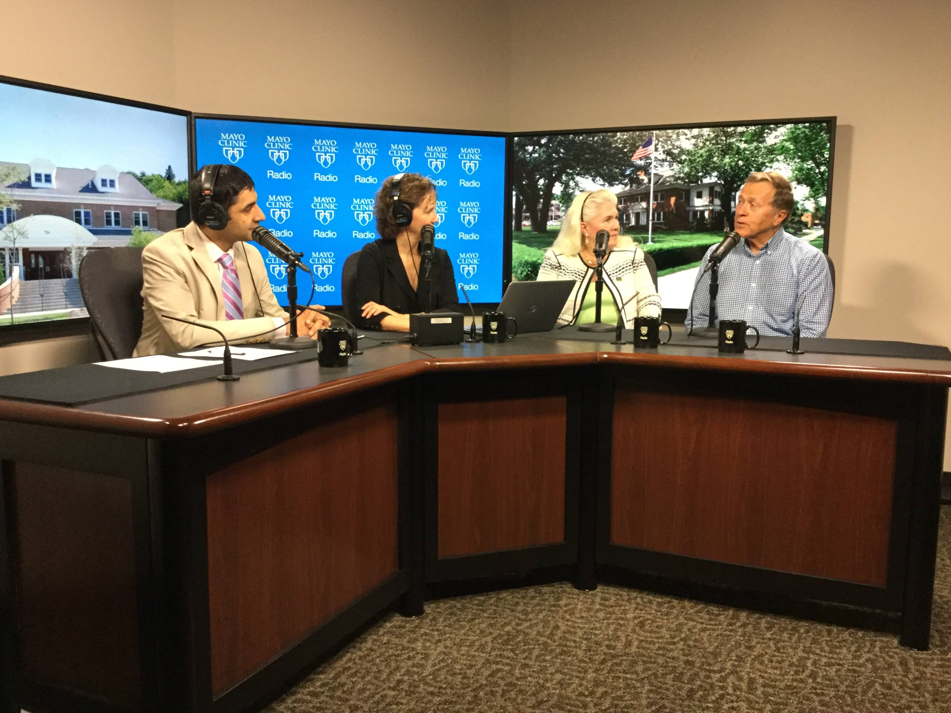 Mary Wilder and John Roise being interviewed on Mayo Clinic Radio