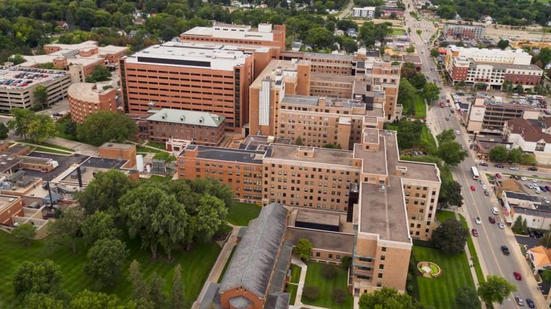 aerial view above the Saint Marys Hospital Campus