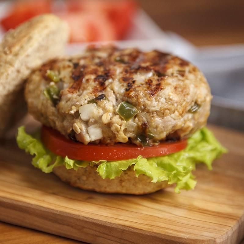 Smoked Gouda poblano turkey burger