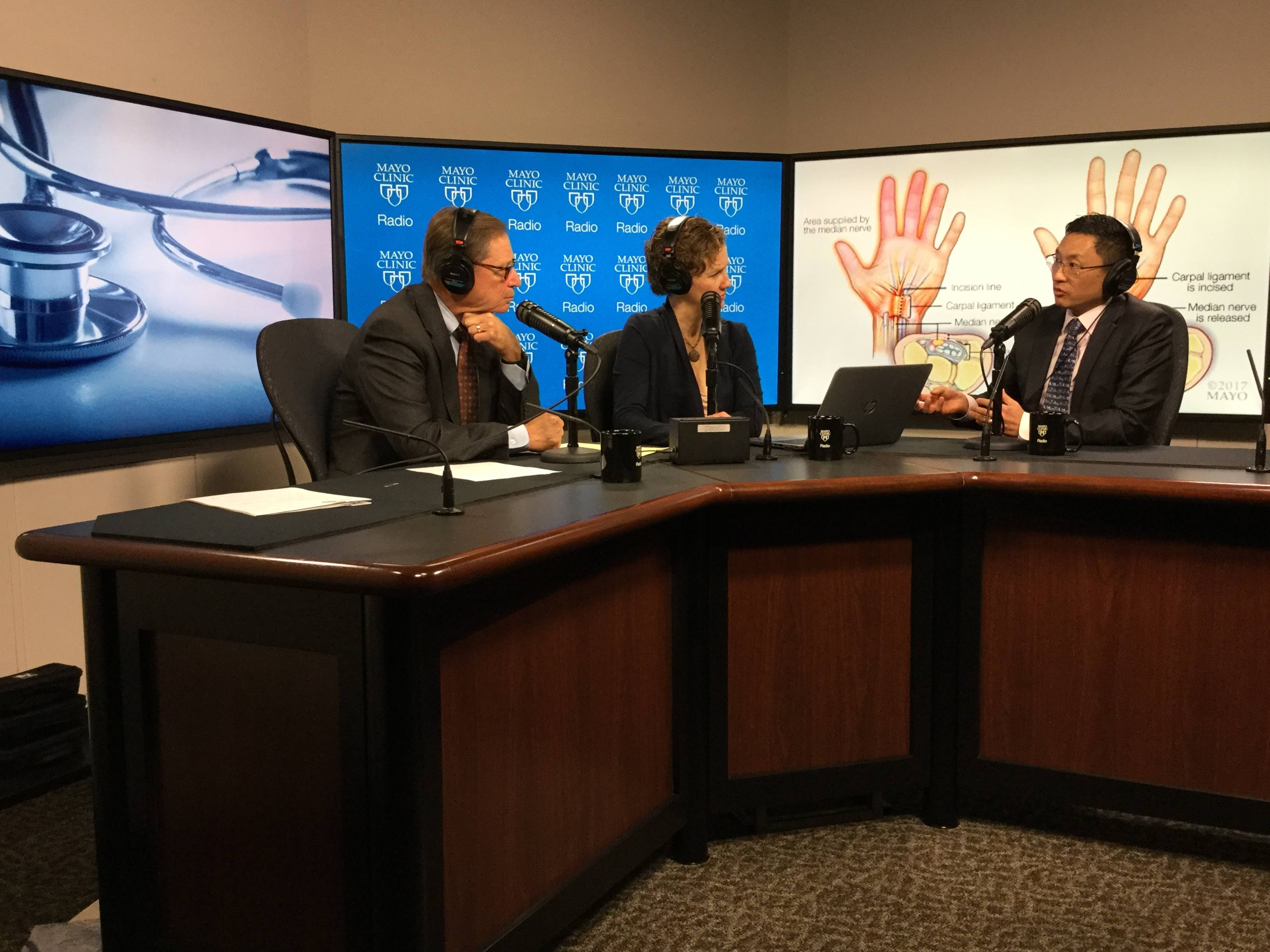 Dr. Alexander Shin being interviewed on Mayo Clinic Radio