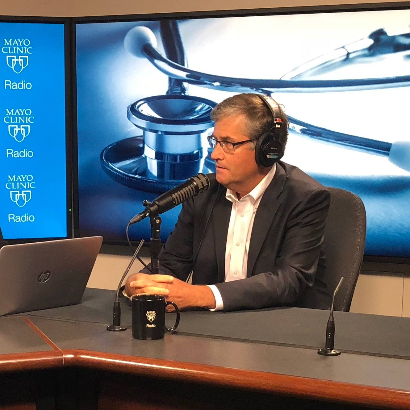 Dr. Robert Trousdale being interviewed on Mayo Clinic Radio