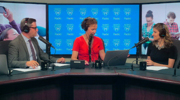Dr. Angela Mattke being interviewed on Mayo Clinic Radio