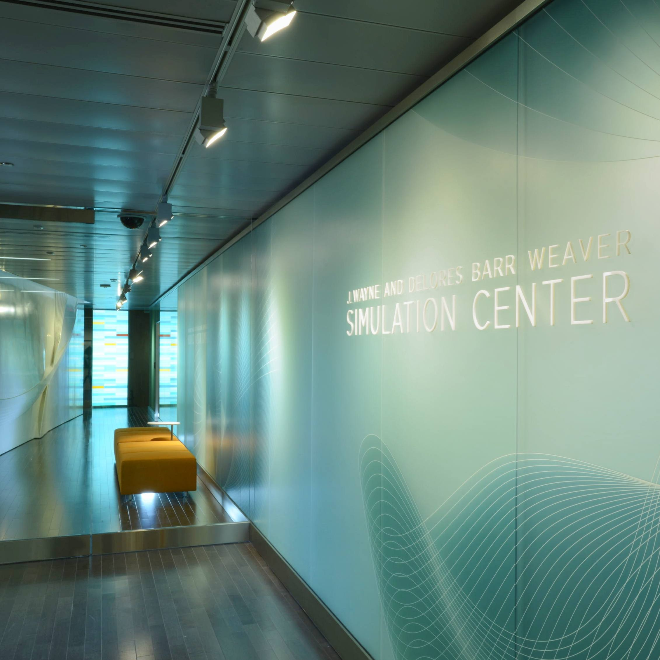 Mayo Clinic J. Wayne and Delores Barr Weaver Simulation Center entrance