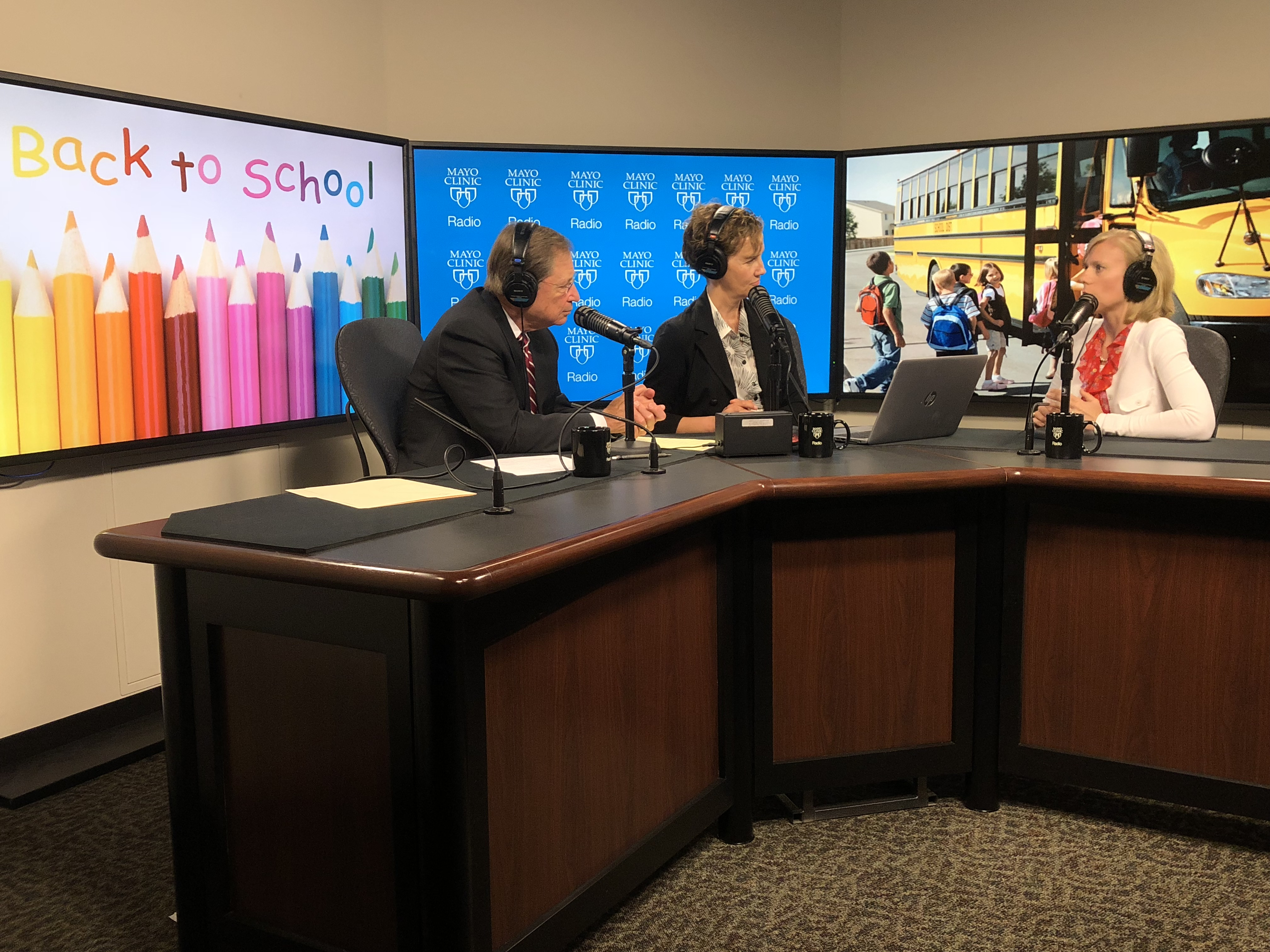 Dr. Elizabeth Cozine being interviewed on Mayo Clinic Radio