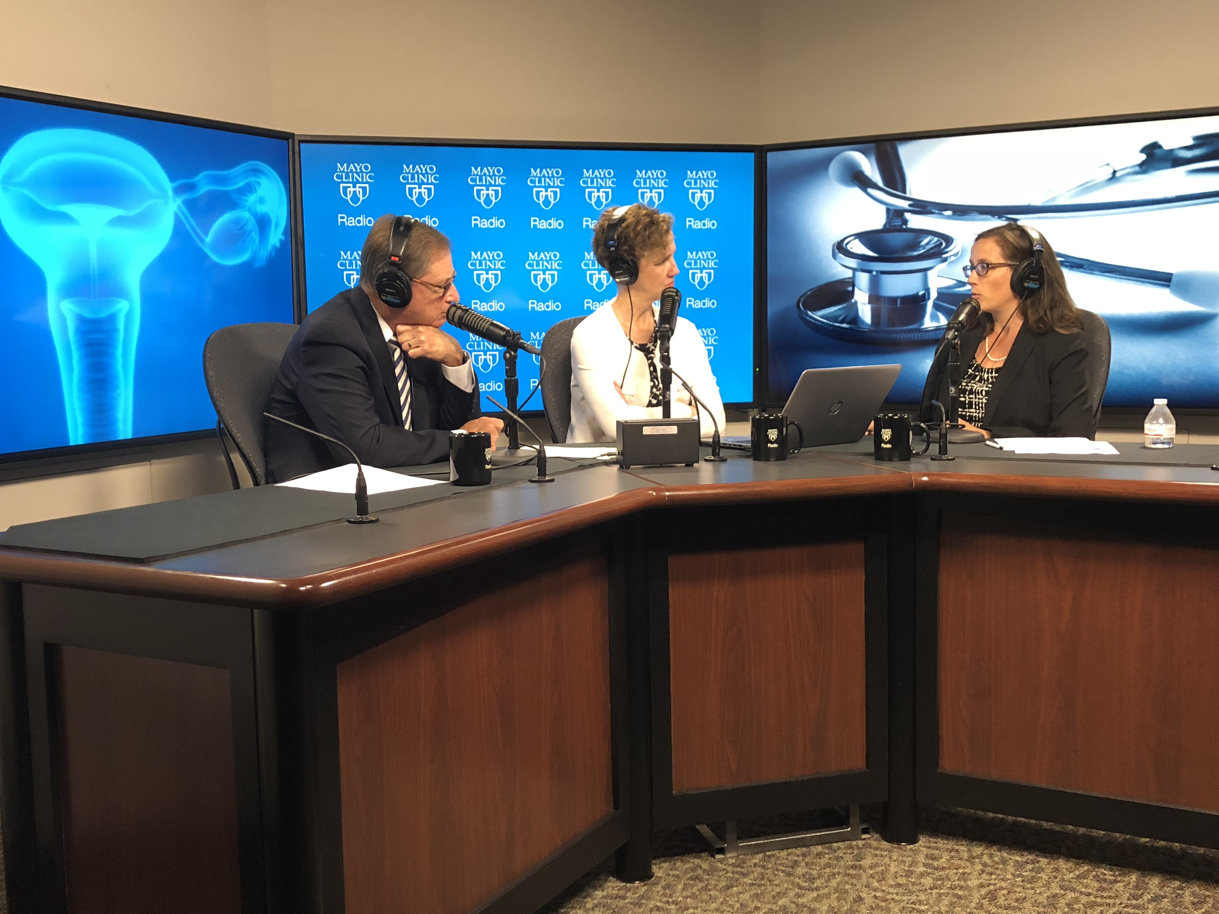 Dr. Shannon Laughlin-Tommaso being interviewed on Mayo Clinic Radio