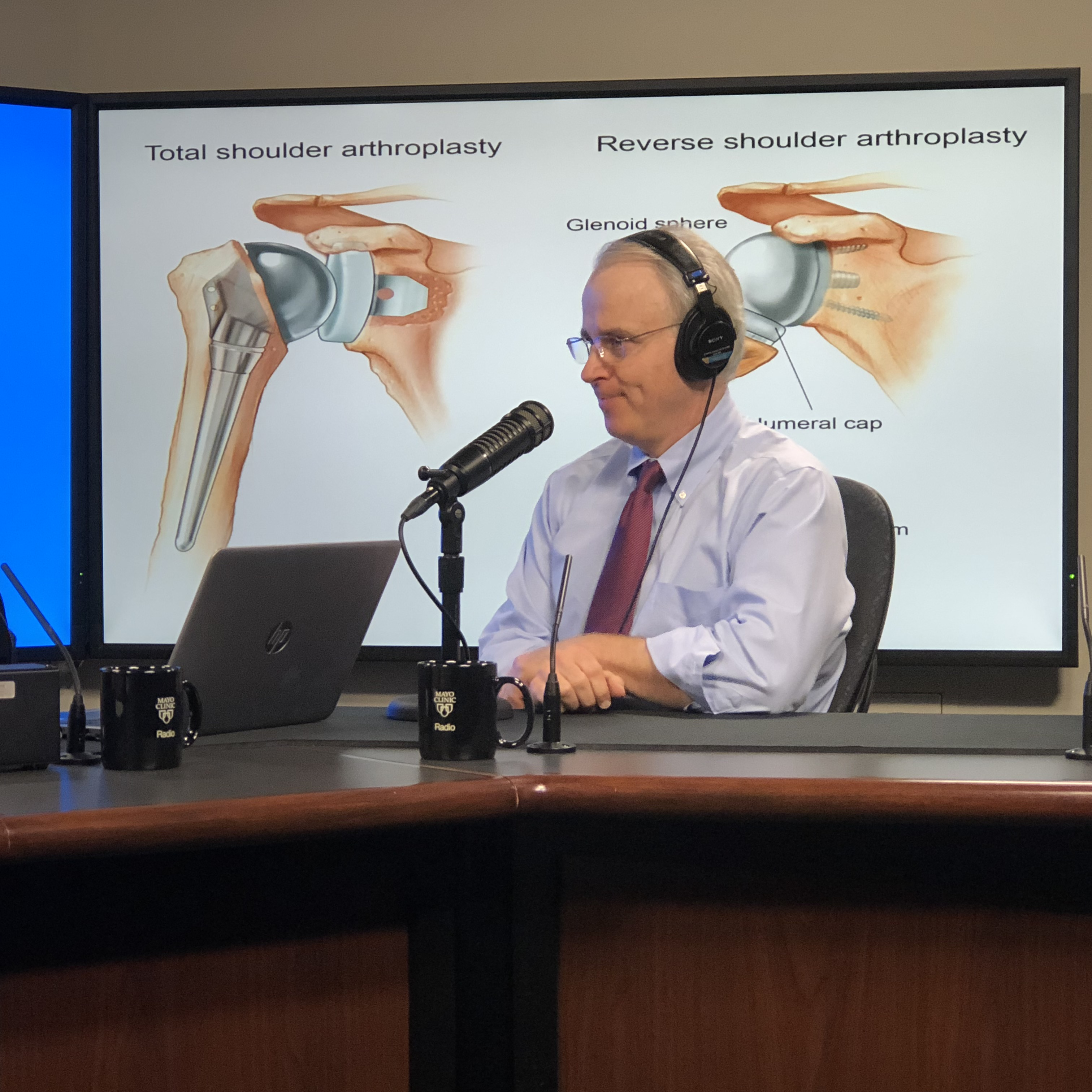 Dr. John Sperling being interviewed on Mayo Clinic Radio