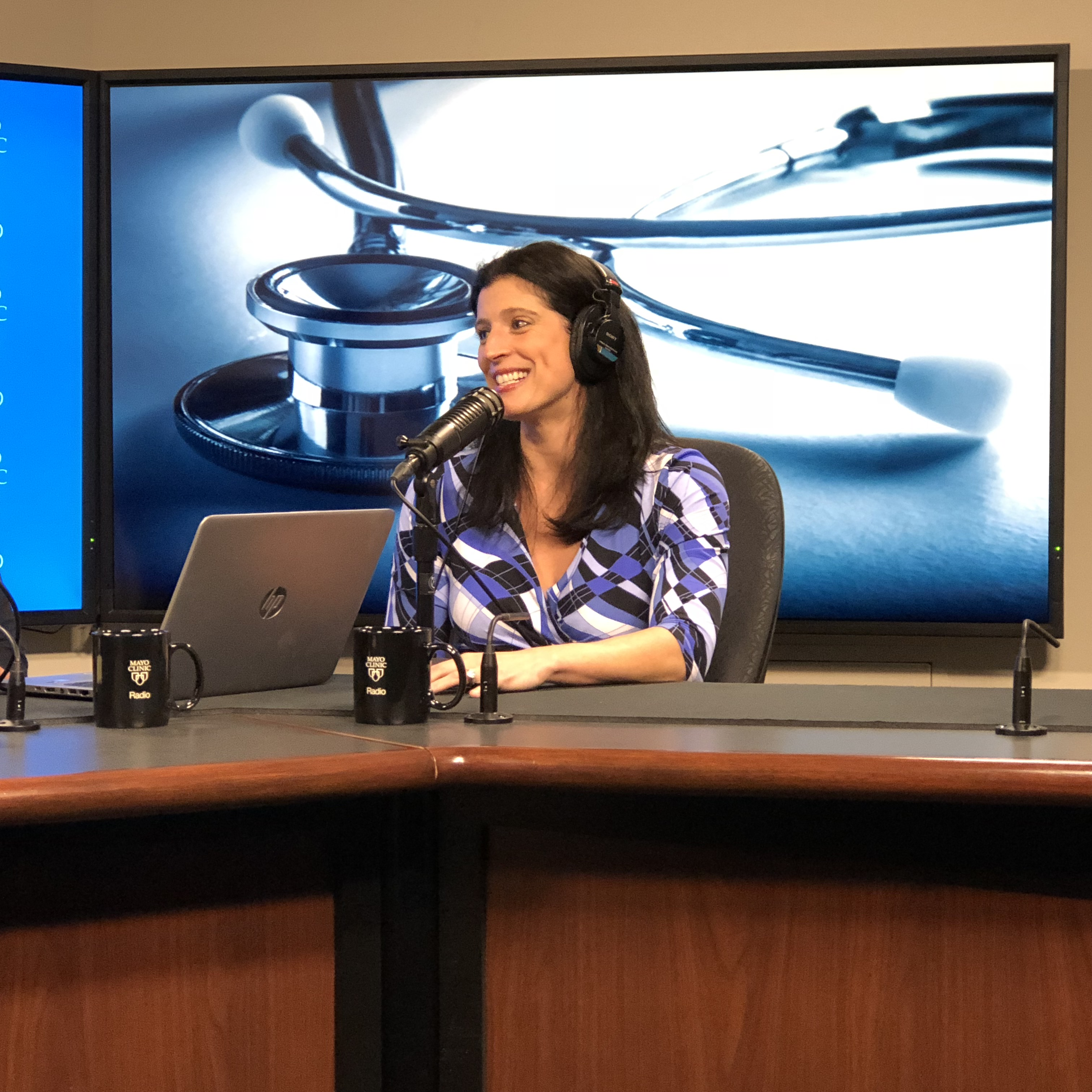 Dr. Sarah McCarthy being interviewed on Mayo Clinic Radio