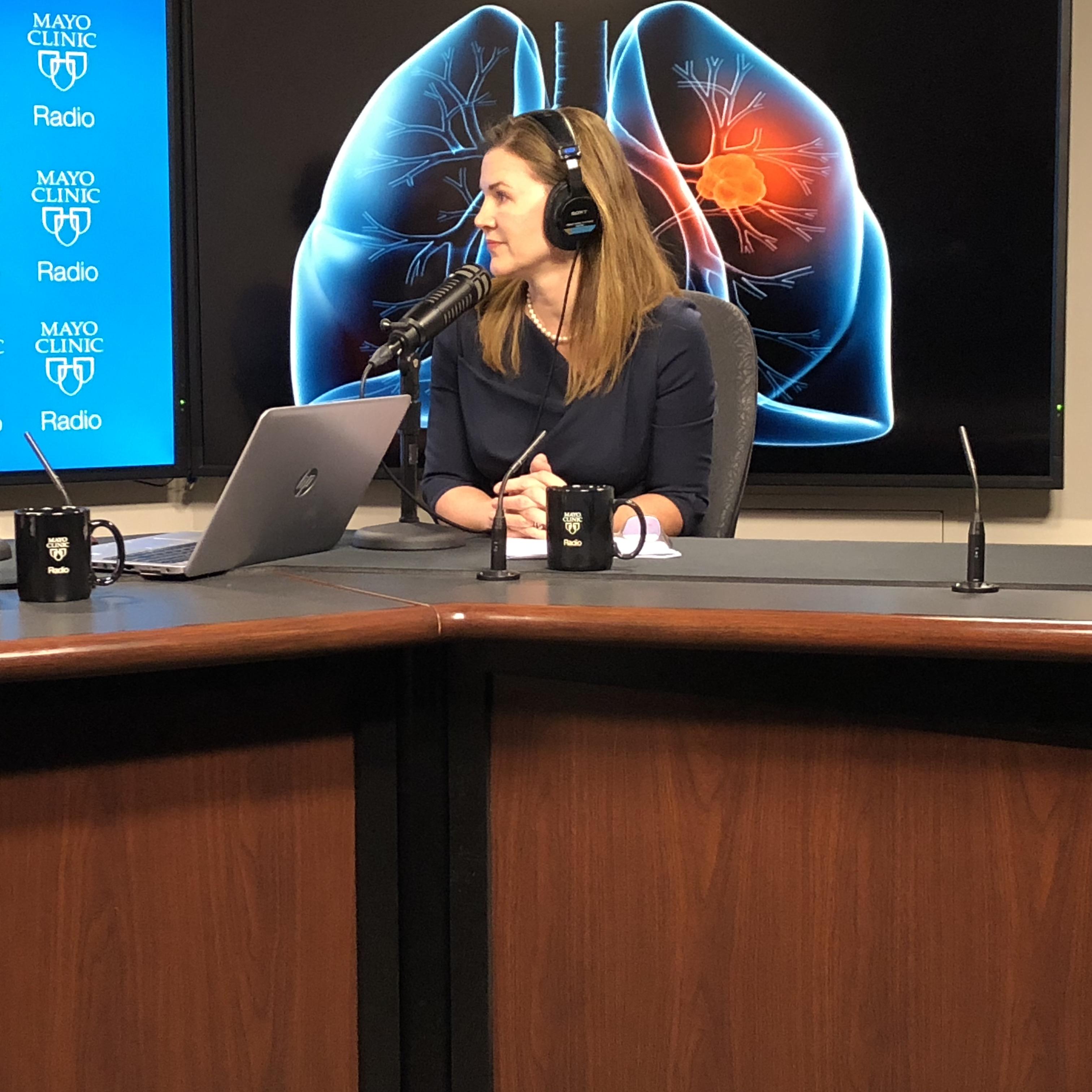 Dr. Shanda Blackmon being interviewed on Mayo Clinic Radio