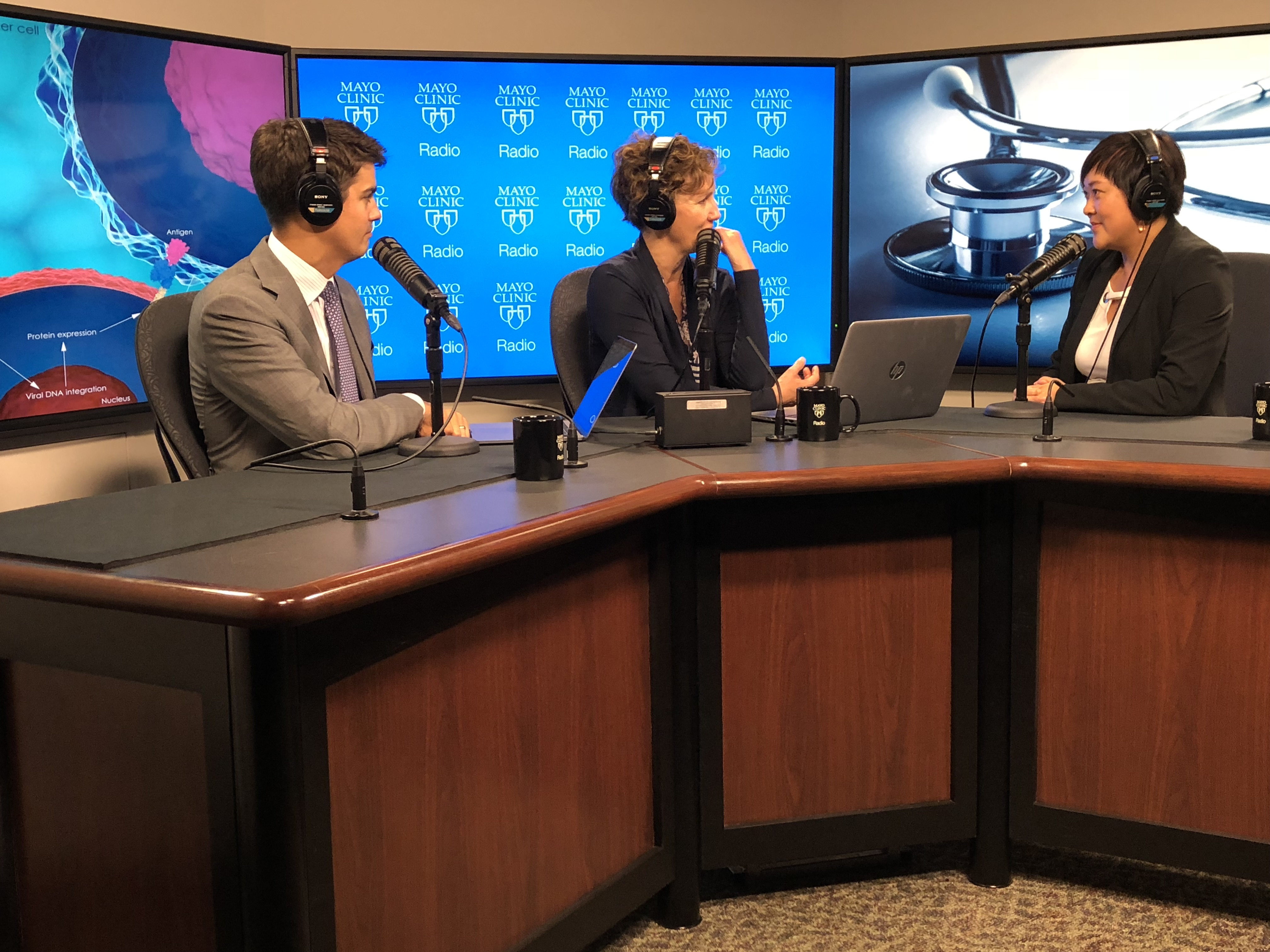 Dr. Yi Lin being interviewed on Mayo Clinic Radio