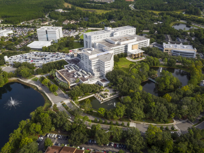 aerial view of Mayo Clinic Florida campus