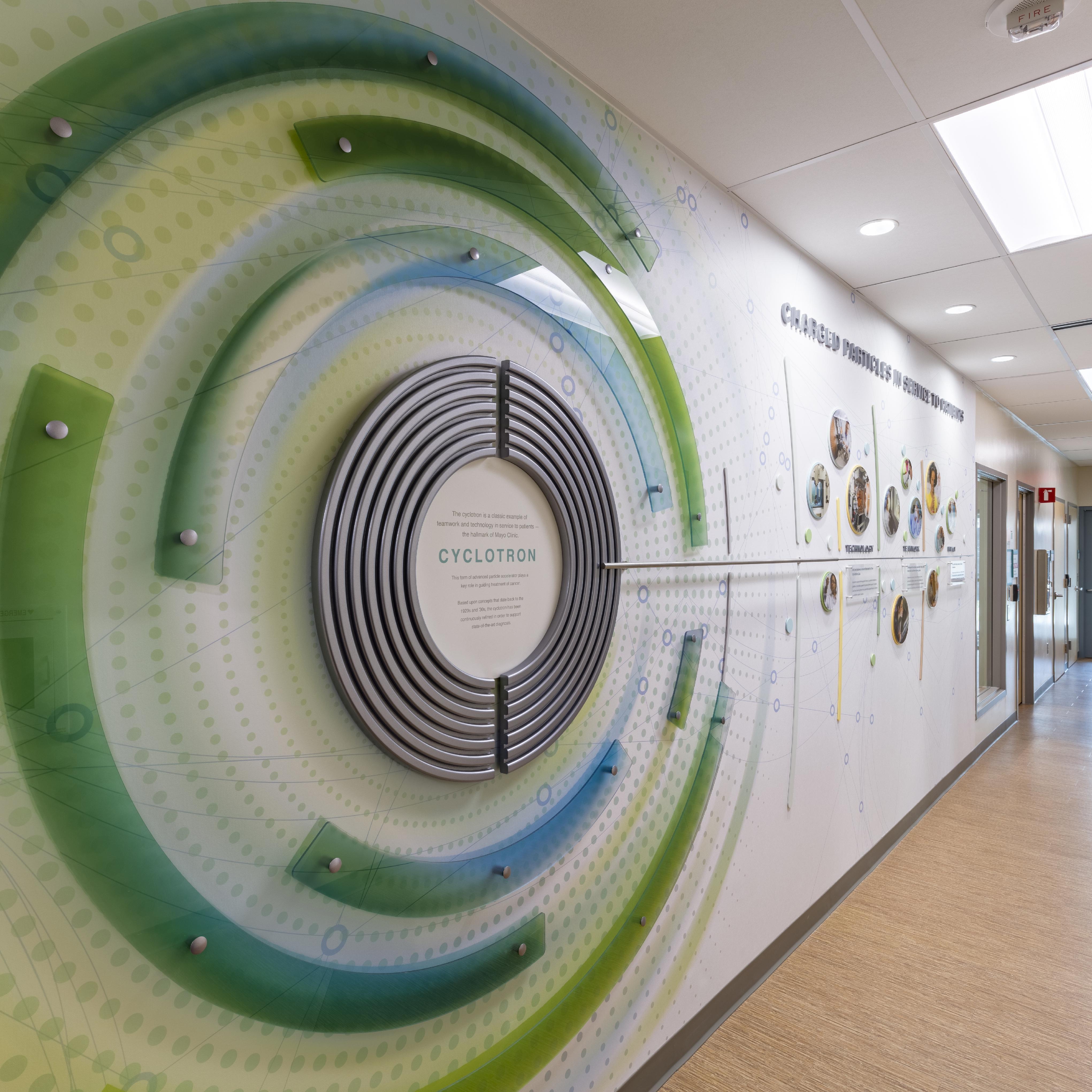 cyclotron display on Mayo Clinic's Arizona campus