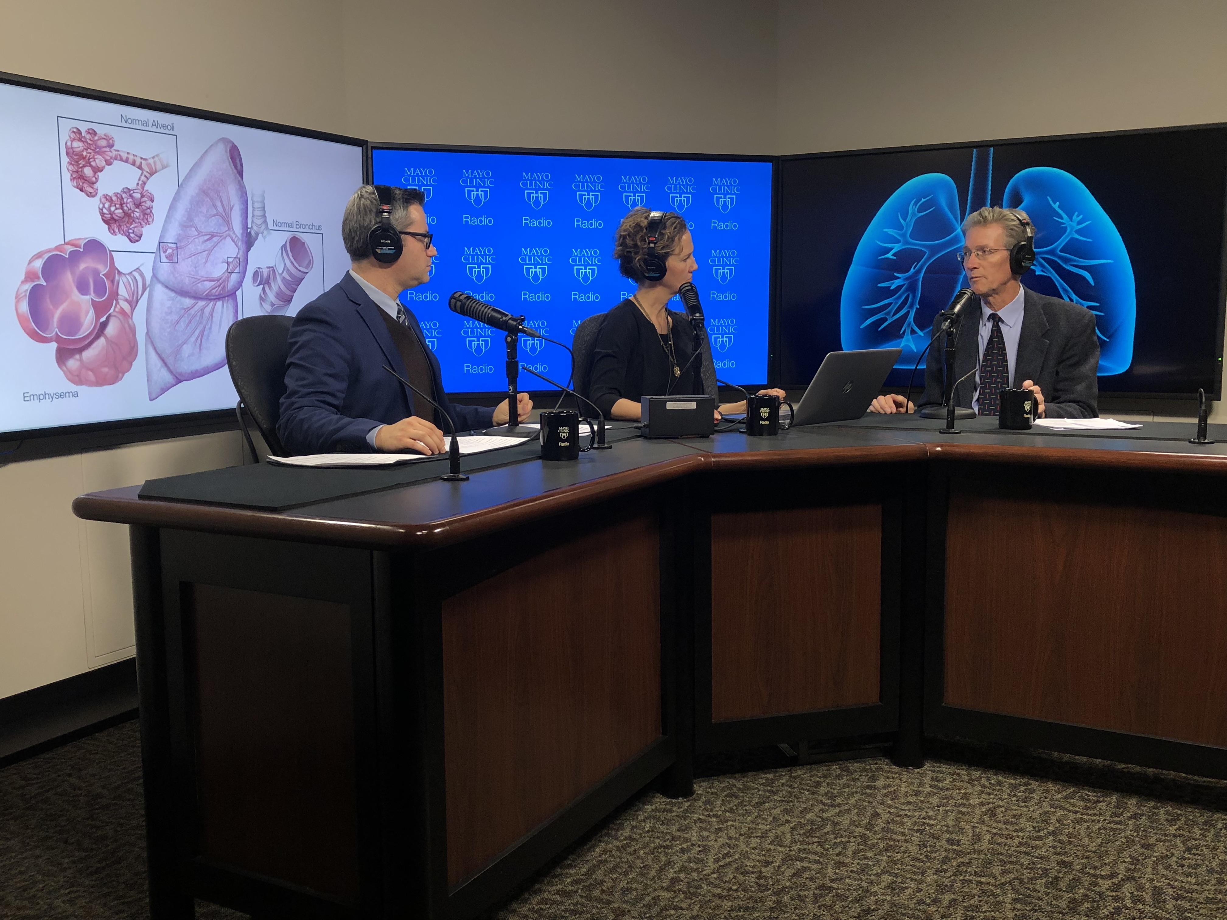 Dr. Paul Scanlon being interviewed on Mayo Clinic Radio