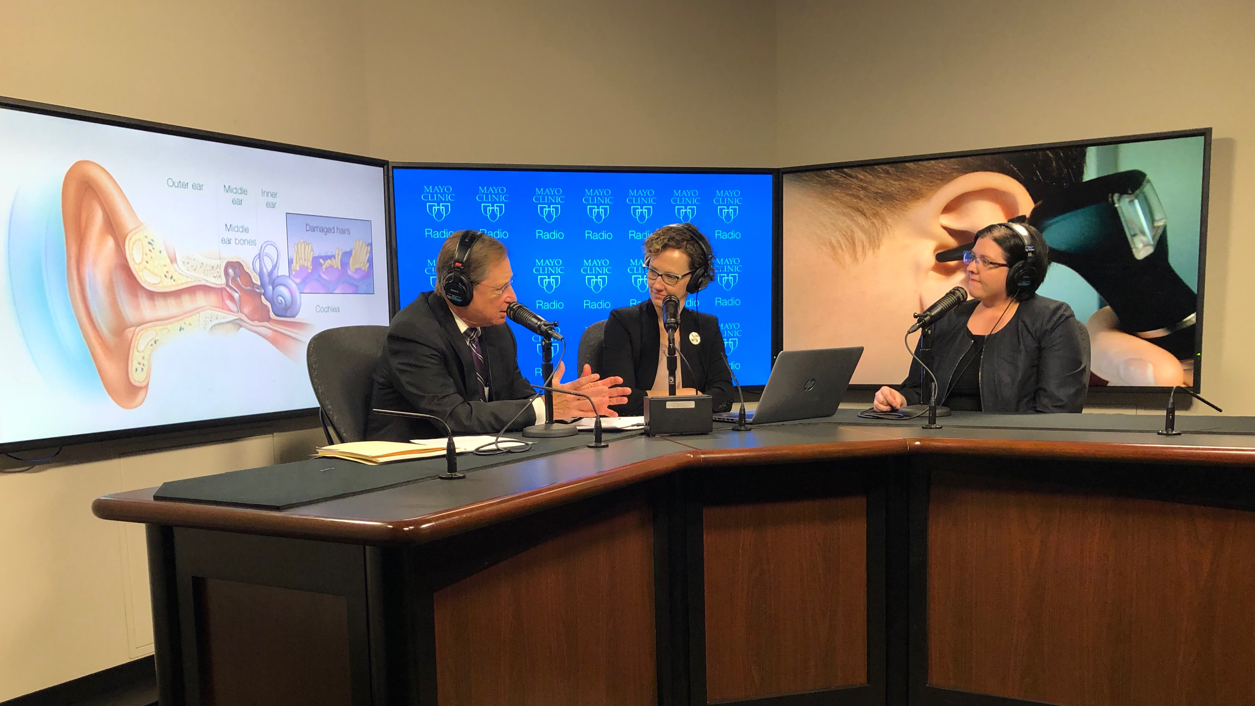 Dr. Gayla Poling being interviewed on Mayo Clinic Radio
