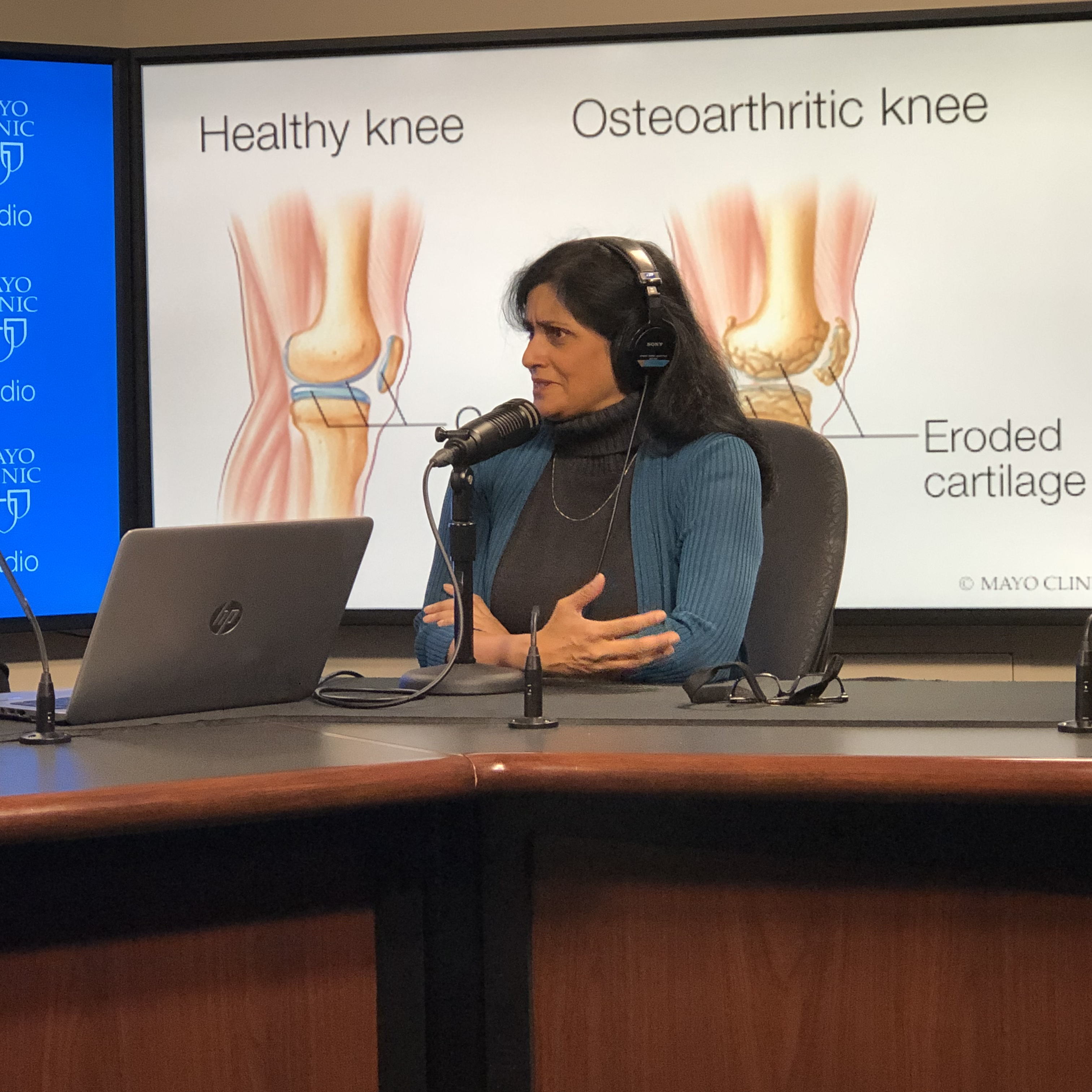 Dr. Shreyasee Amin being interviewed on Mayo Clinic Radio