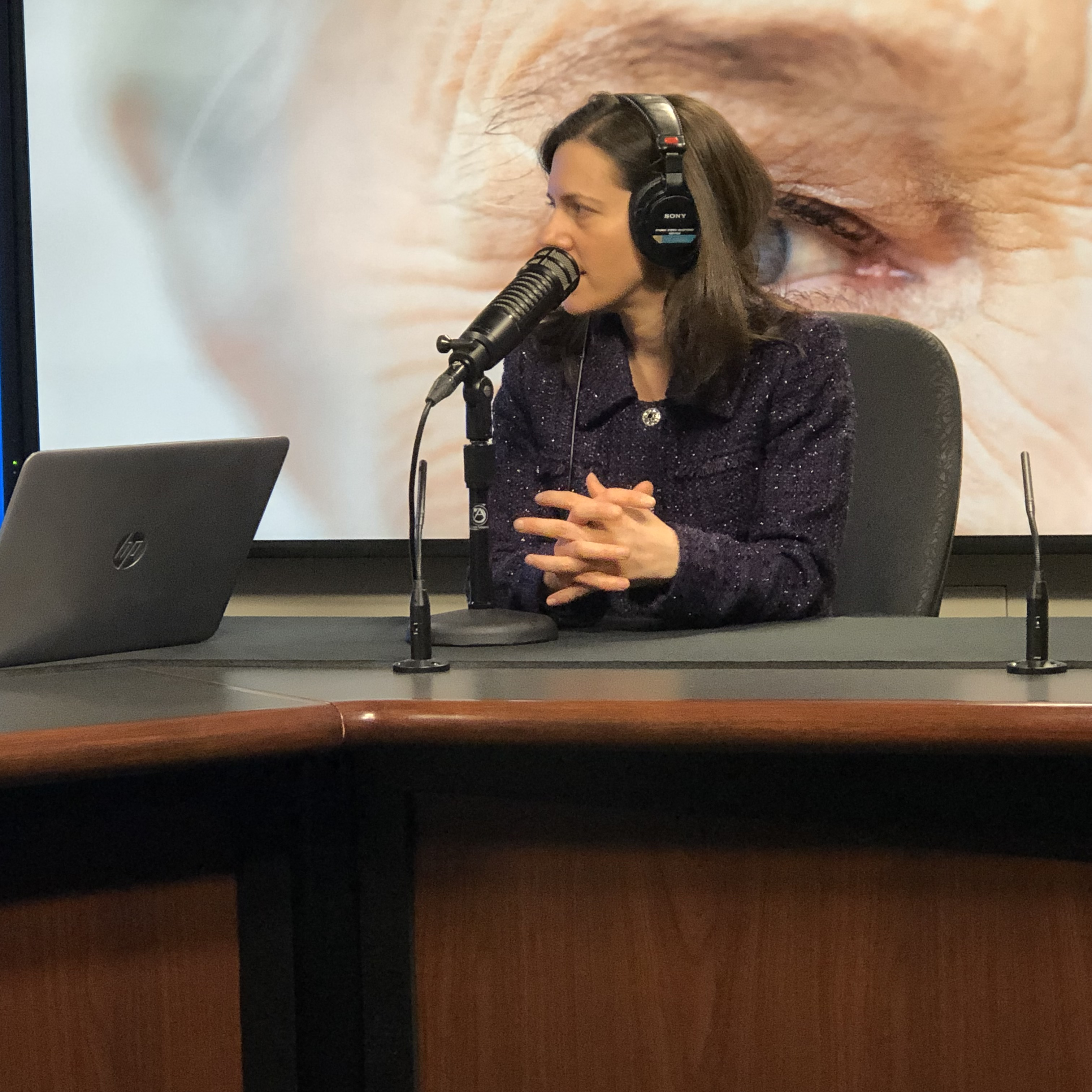 Dr. Sophie Bakri being interviewed on Mayo Clinic Radio