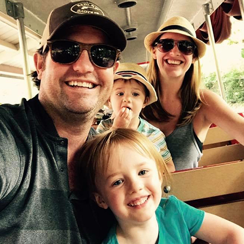 In the Loop patient Clay Meers and family