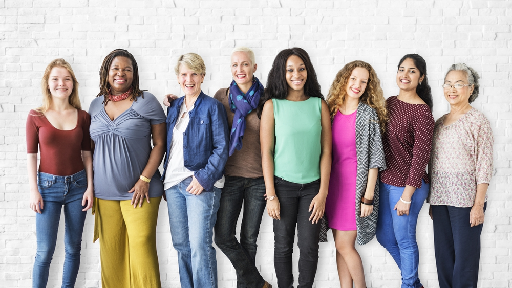 group photo of diverse women