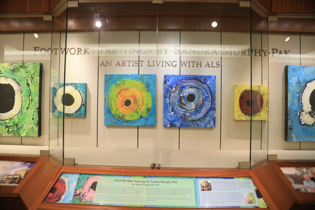 Sandra Murphy-Pak, a patient living with ALS, also maintains a high quality of life by painting. Painting, feet, ALS, Lou Gehrig's disease, Amyotrophic lateral sclerosis, MayoClinicFL